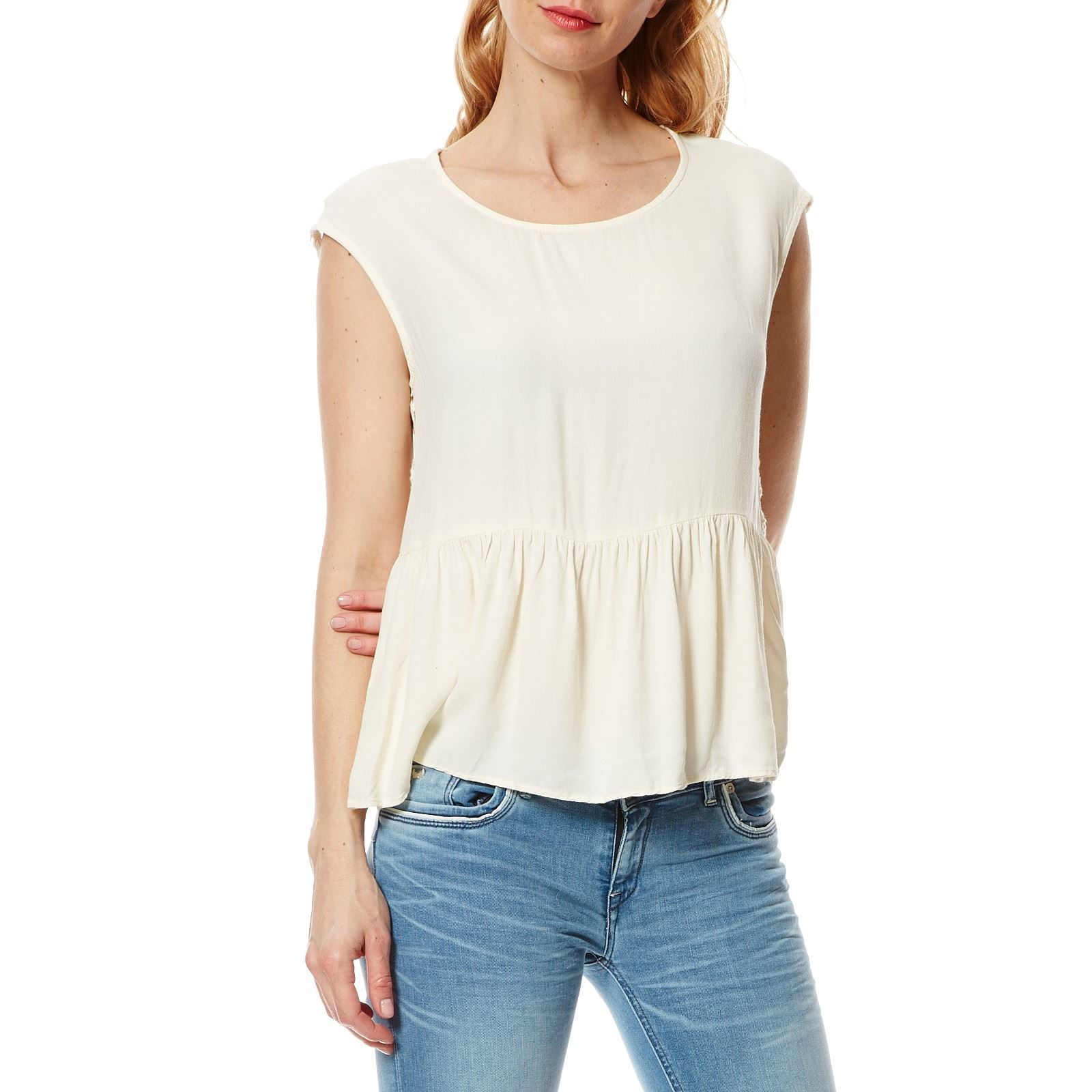 Pepe Jeans London Indira - Top - blanc