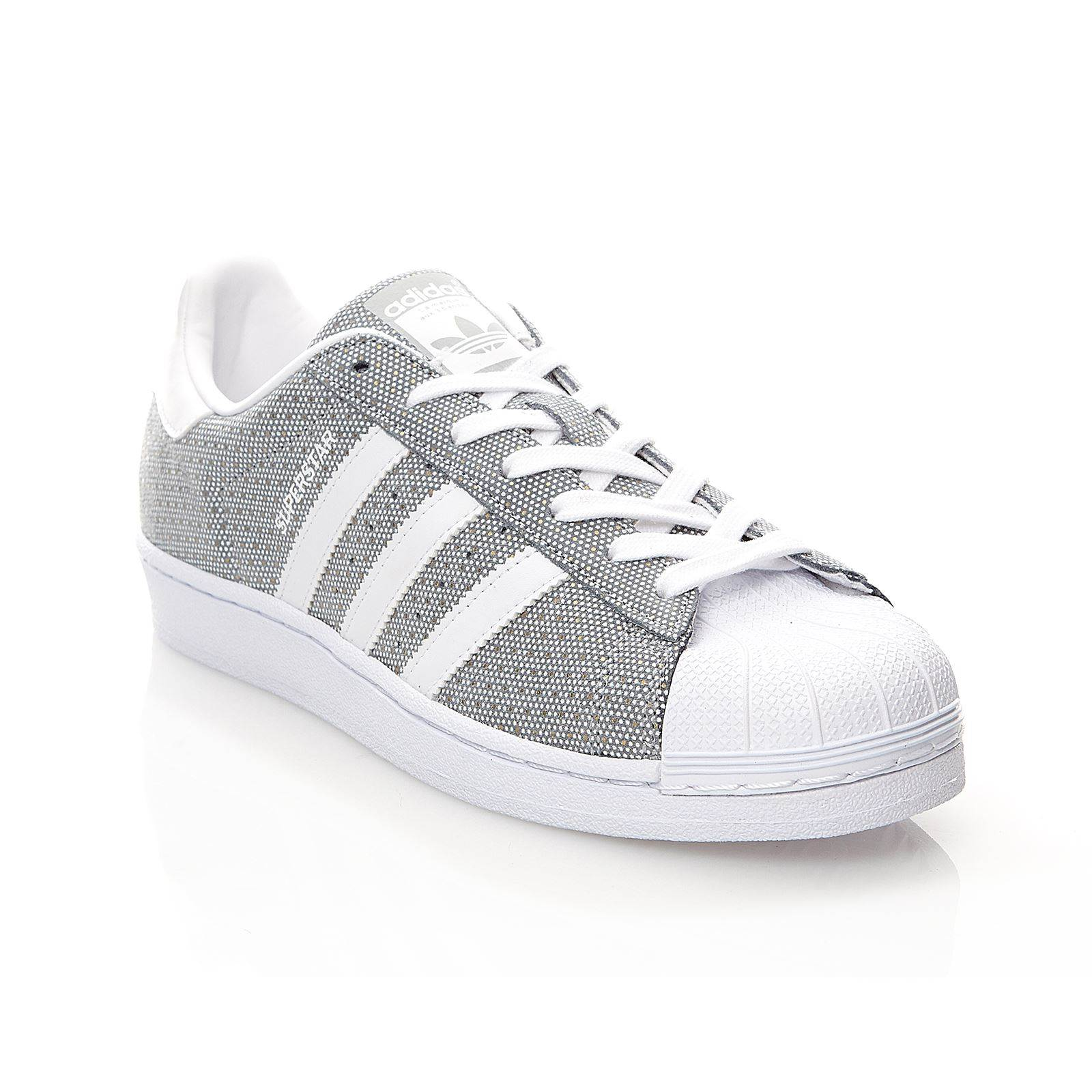 adidas originals superstar w ledersneakers grau. Black Bedroom Furniture Sets. Home Design Ideas