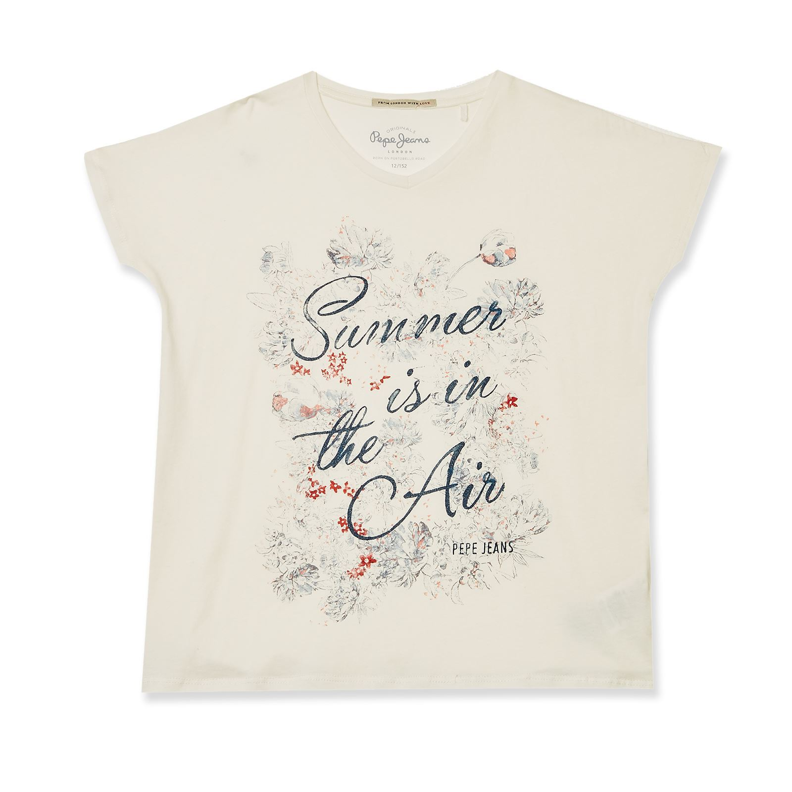 Pepe Jeans London cherry jr - T-shirt - blanc