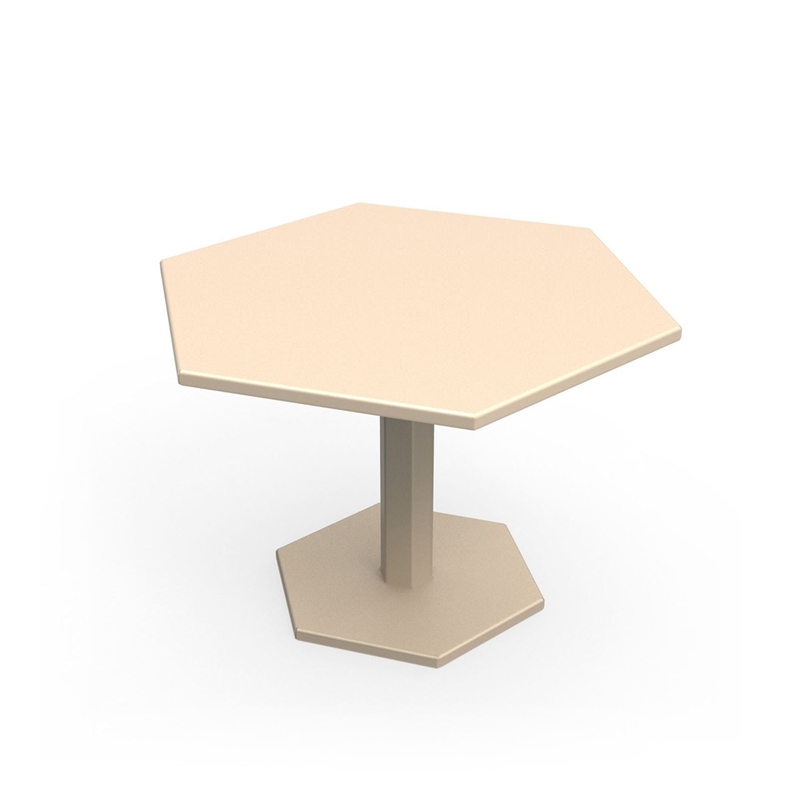 Zhed hexagone table basse beige brandalley - Table basse laquee beige ...