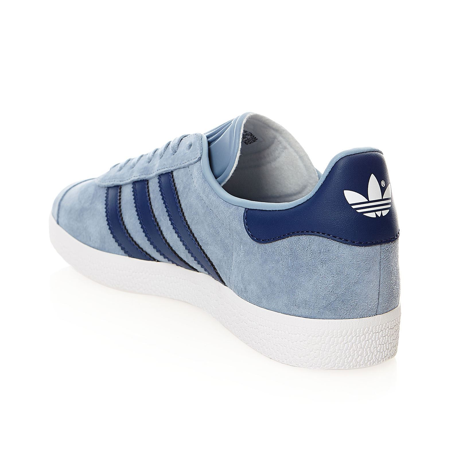 adidas originals gazelle w baskets en cuir bleu ciel brandalley. Black Bedroom Furniture Sets. Home Design Ideas