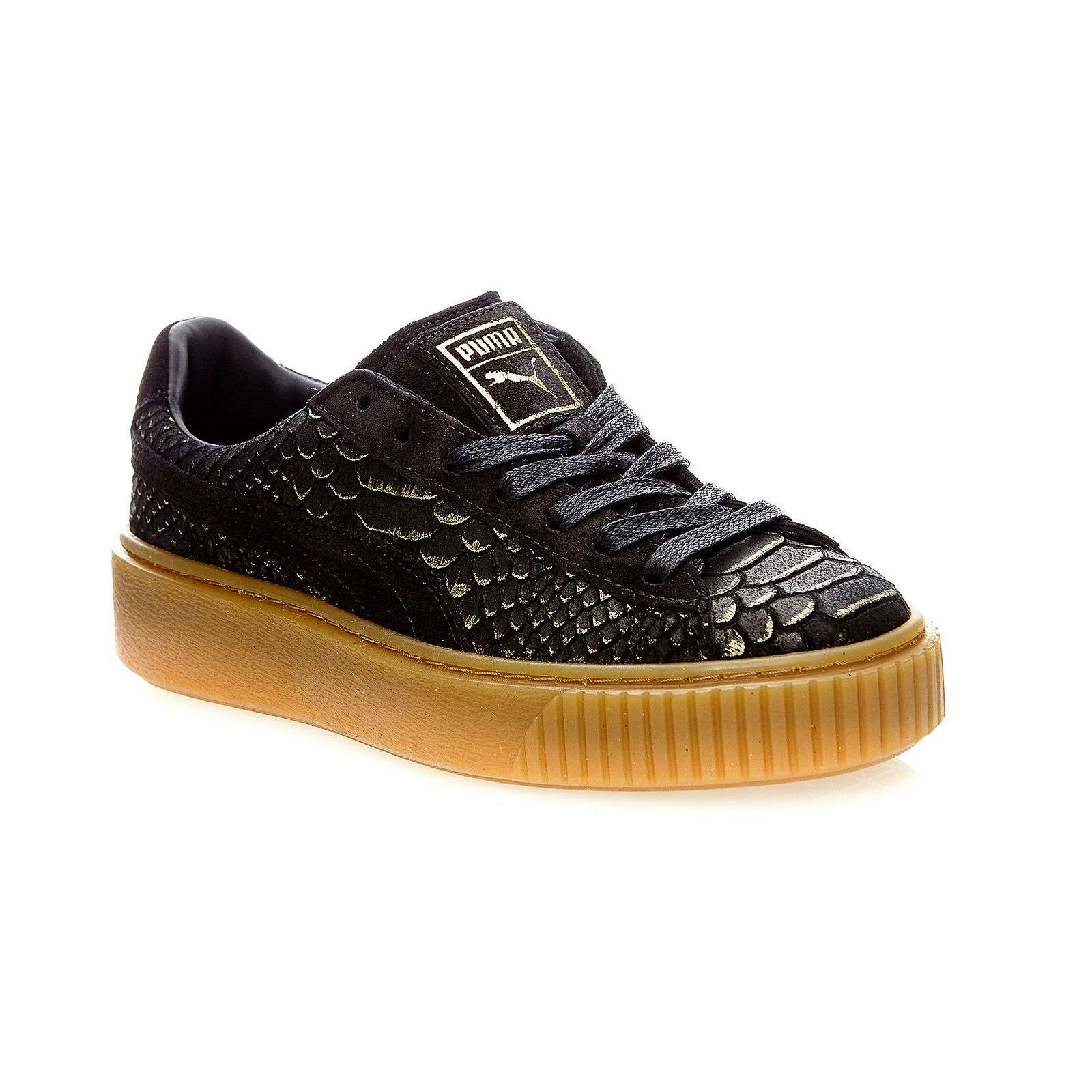 puma platform ex baskets plateforme en cuir noir brandalley. Black Bedroom Furniture Sets. Home Design Ideas