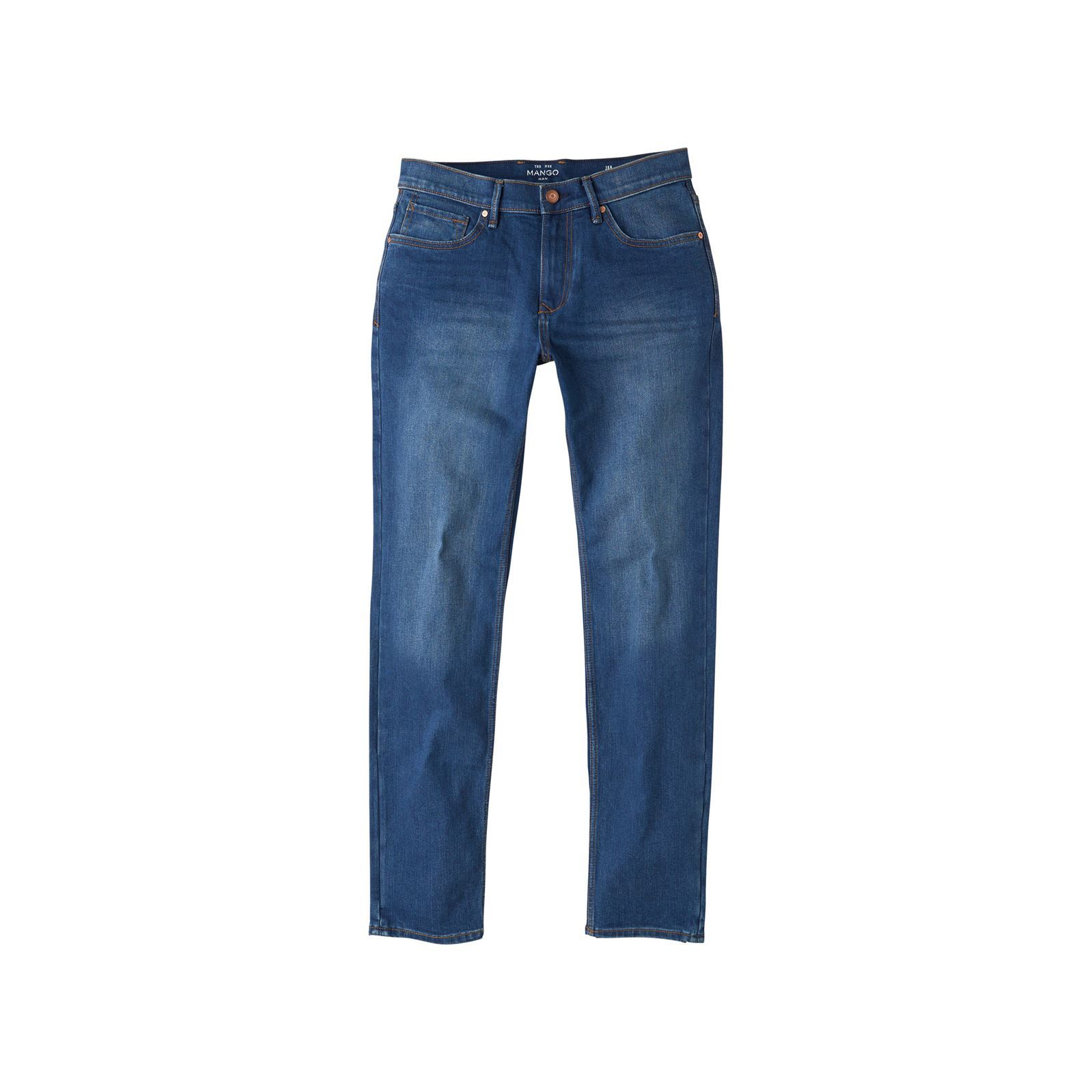 Mango Man Jean slim-fit délavé - denim bleu