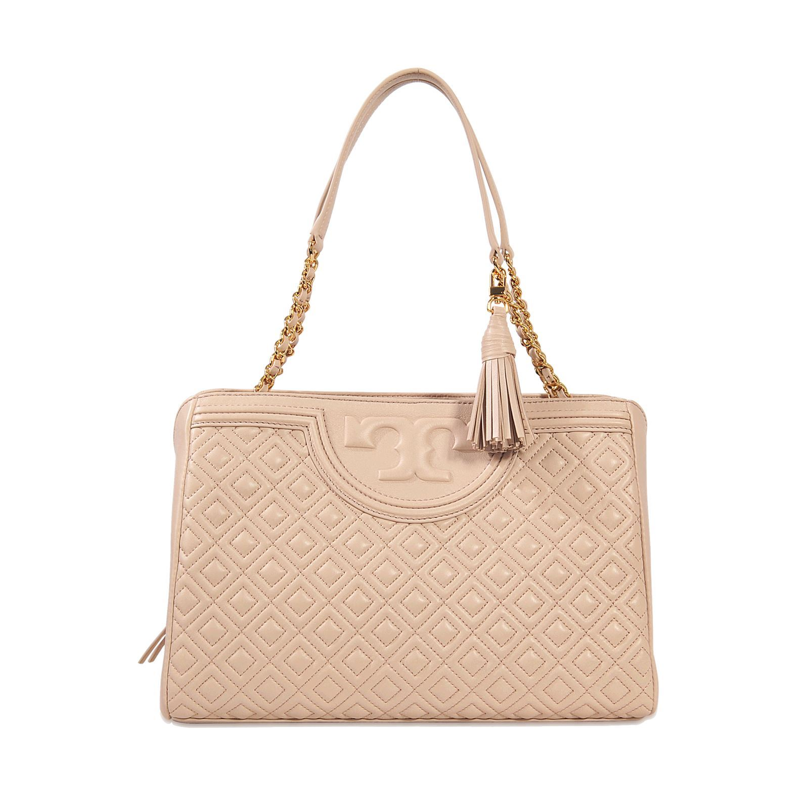 Tory Burch Fleming - Sac cabas en cuir - rose   BrandAlley cced6e705094