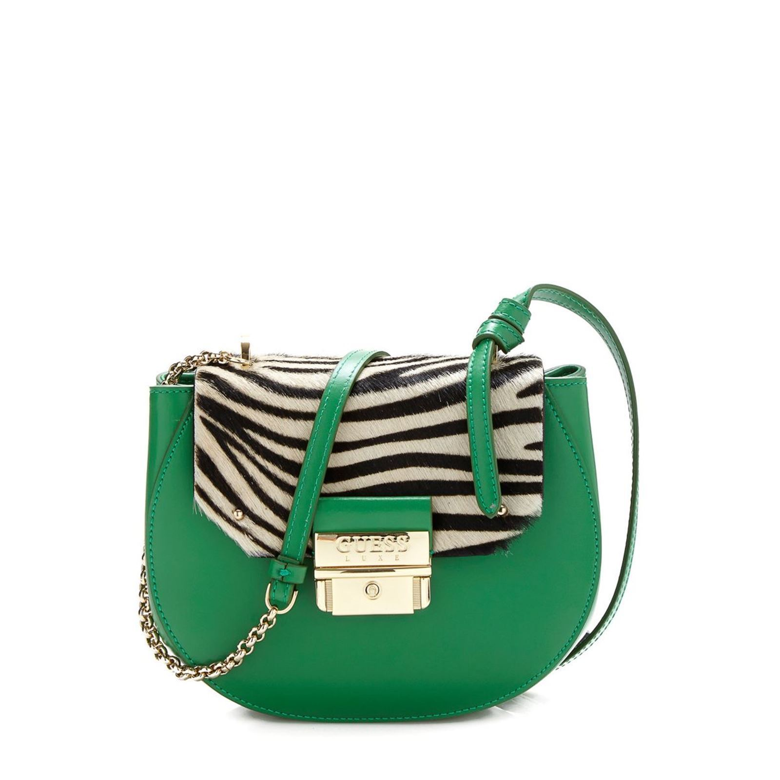 Verde Brandalley Foal Leather Bag Satchel Effect Guess Maelle qwfYvpx0