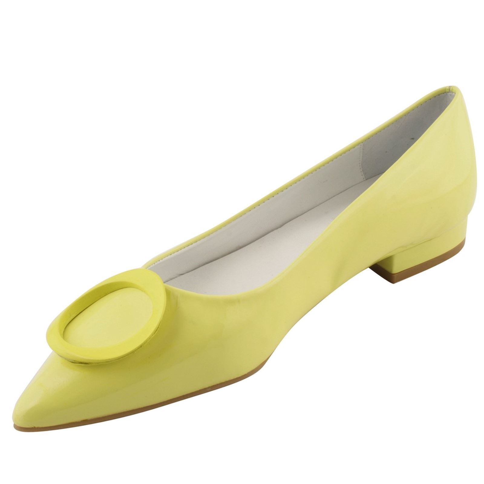 Exclusif Paris Colombe - Ballerines en cuir - jaune