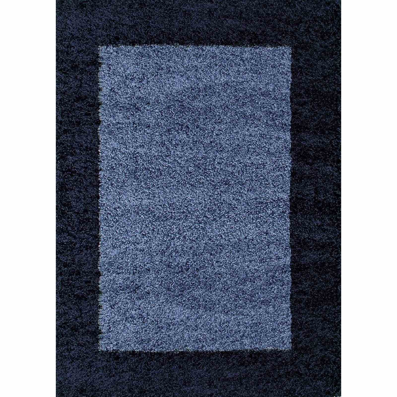 nazar shaggy tapis bleu brandalley. Black Bedroom Furniture Sets. Home Design Ideas