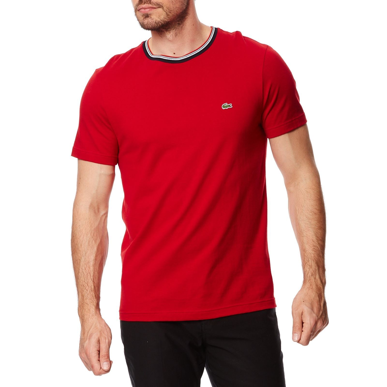 lacoste t shirt manches courtes rouge brandalley. Black Bedroom Furniture Sets. Home Design Ideas