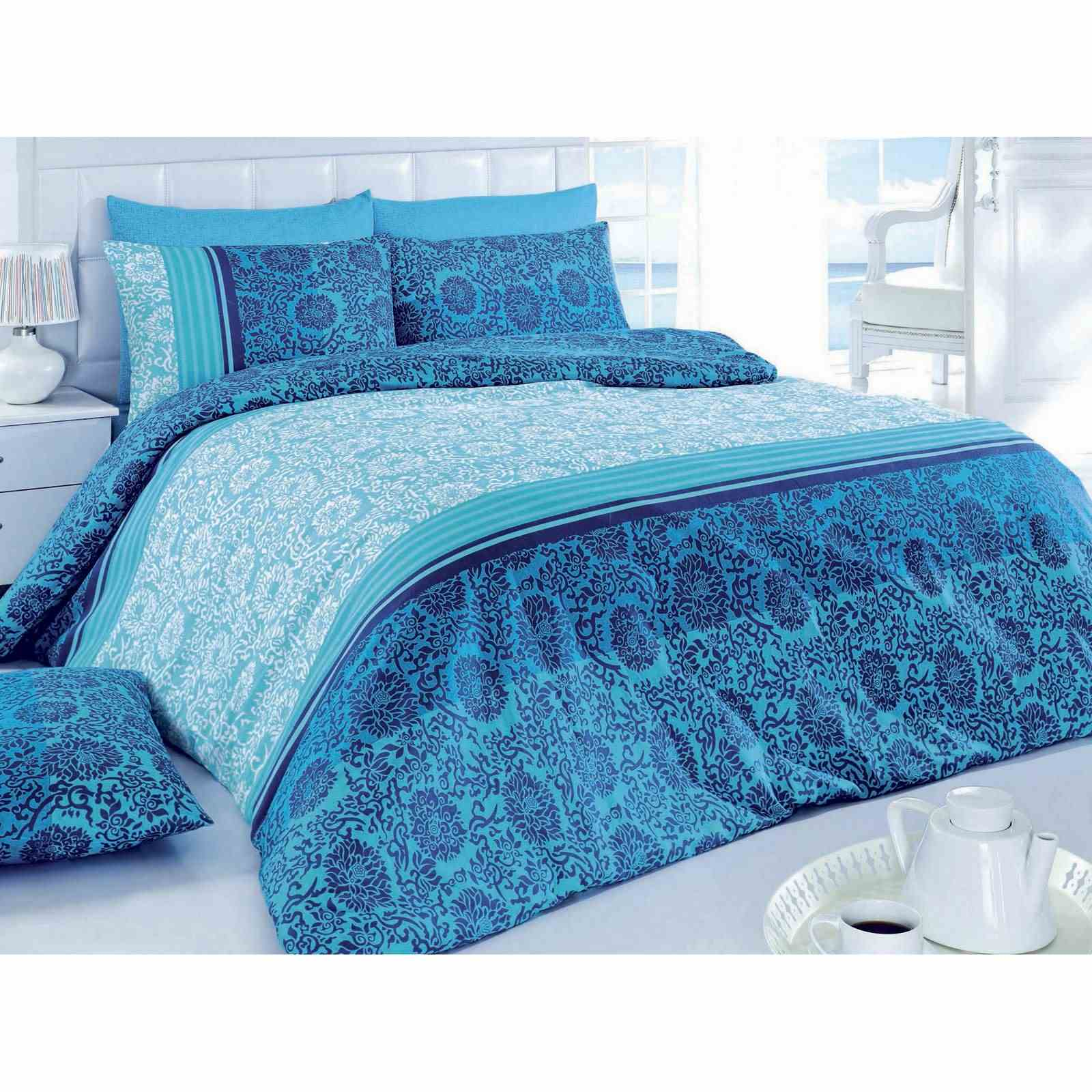 pearl home parure de lit bleu brandalley. Black Bedroom Furniture Sets. Home Design Ideas