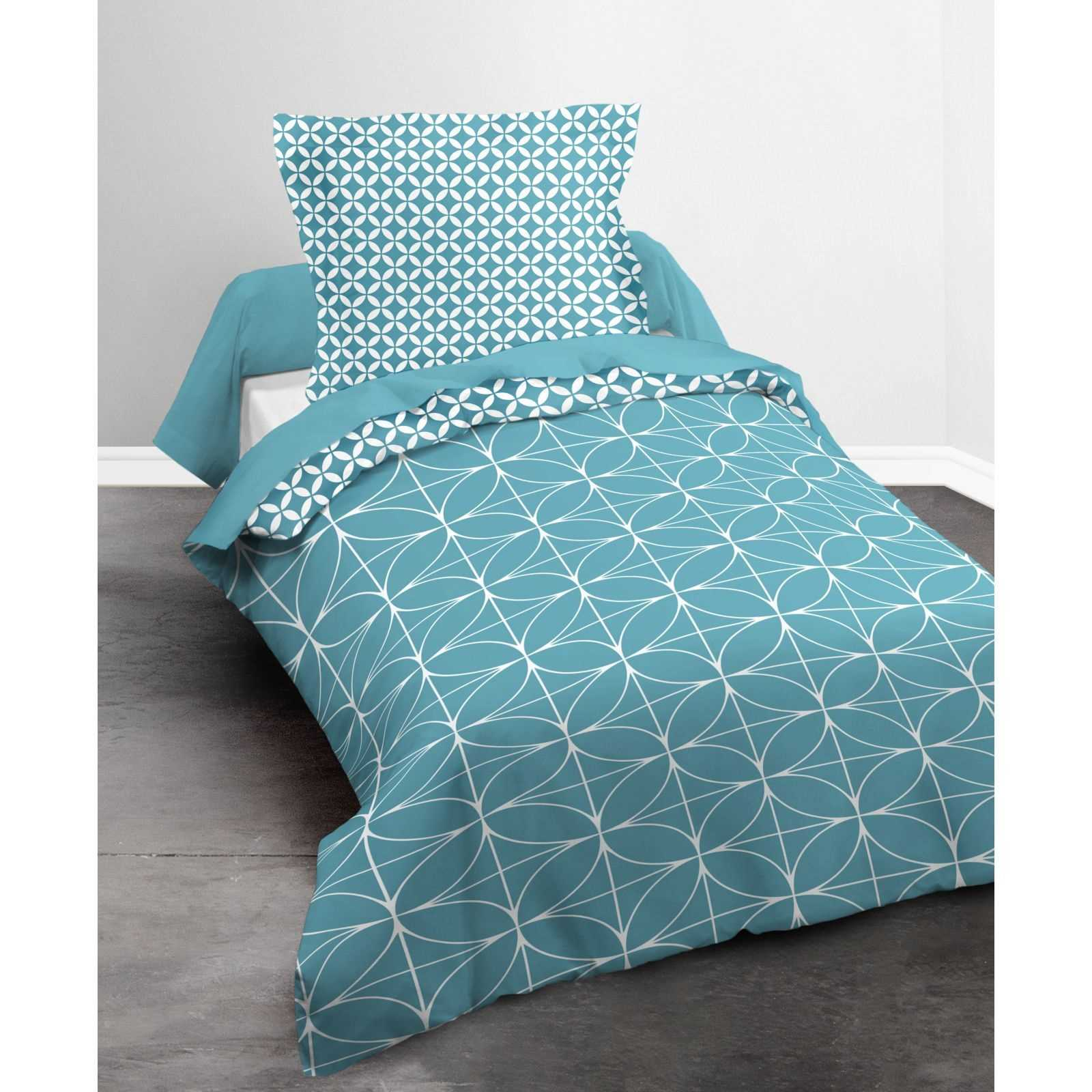 today parure de couette 2 pi ces turquoise brandalley. Black Bedroom Furniture Sets. Home Design Ideas