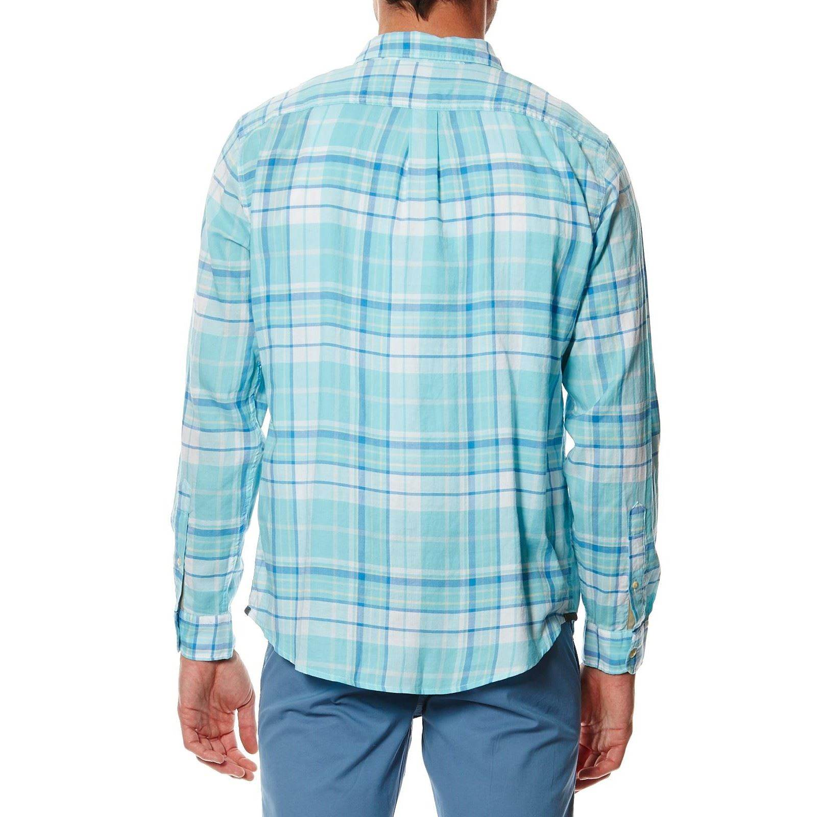 Dockers wrinkle twill shirt camisa azul brandalley for Dockers wrinkle free shirts