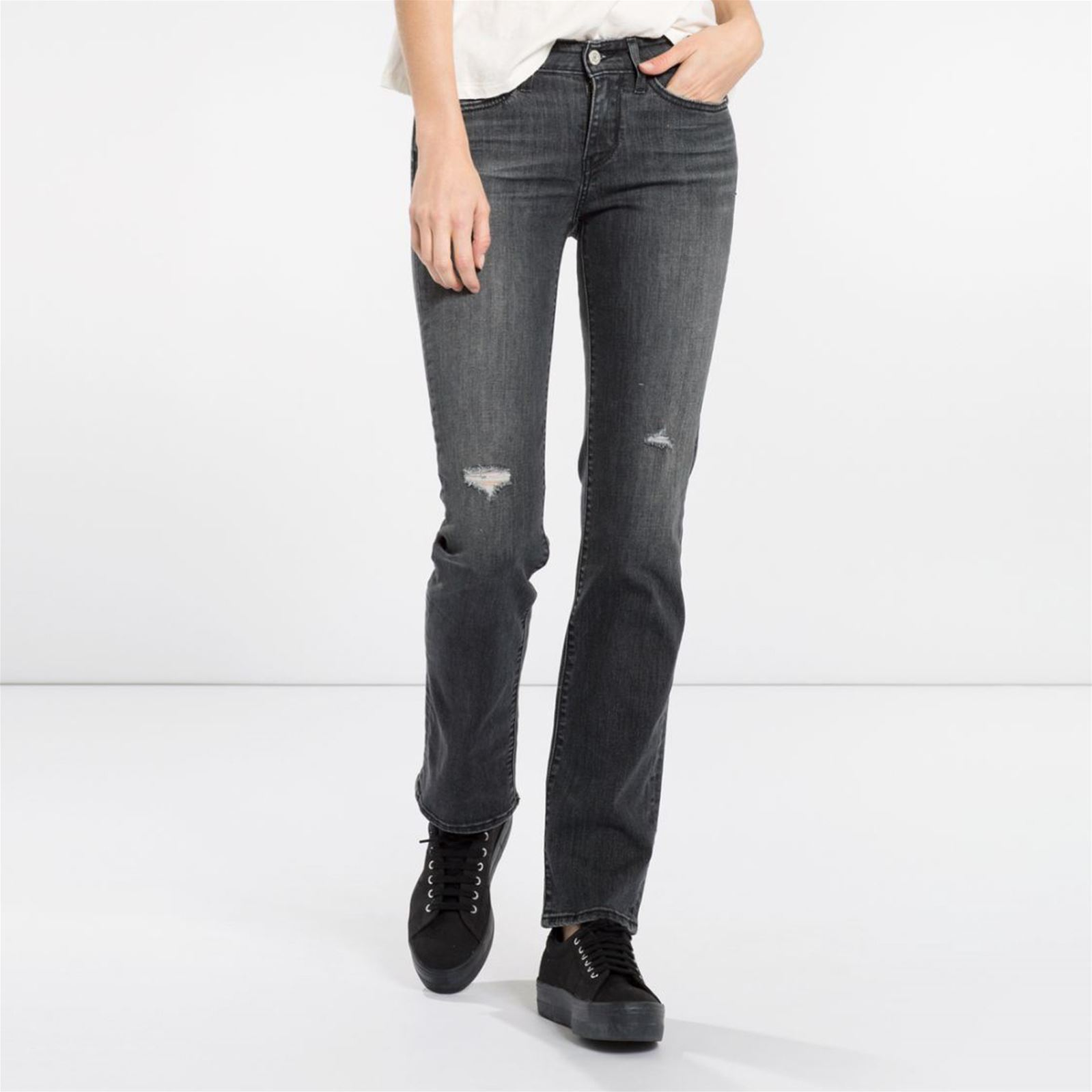 Levis 714 Straight Monday Morning  Skinny  Gris Foncé