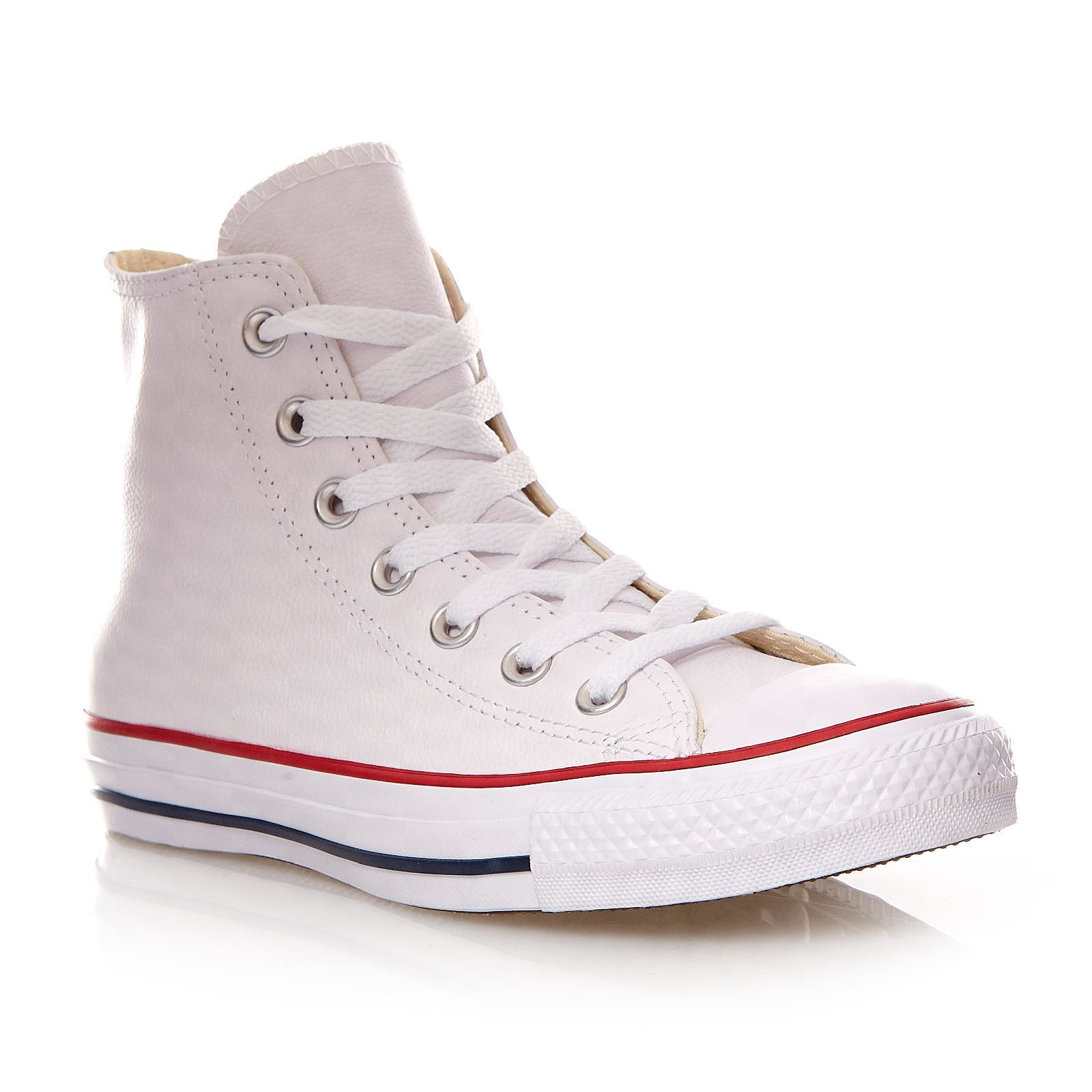 converse chuck taylor all star hi high sneakers aus leder wei brandalley. Black Bedroom Furniture Sets. Home Design Ideas