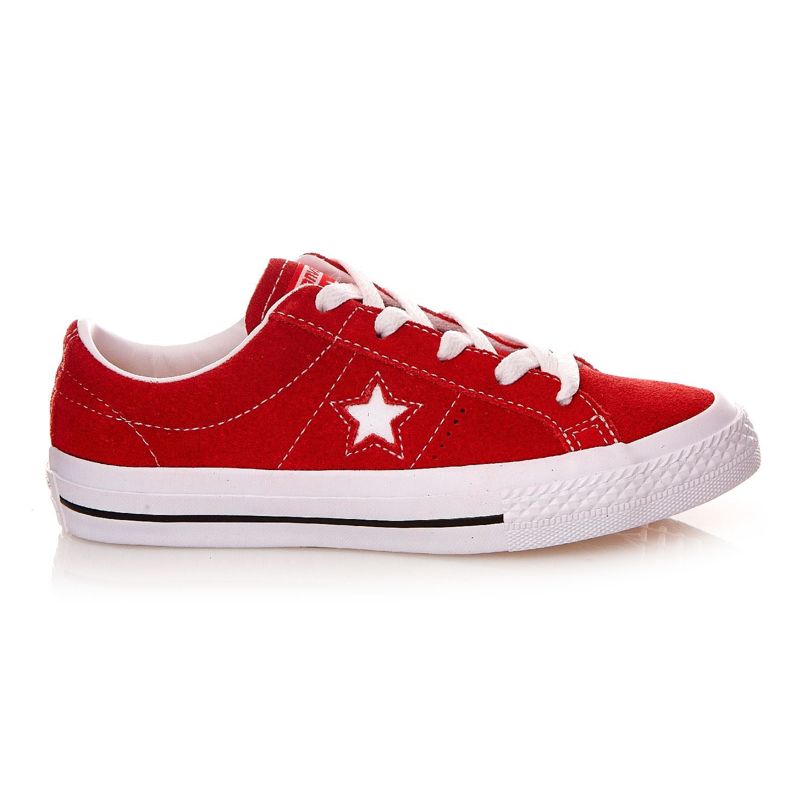 converse one star suede rouge