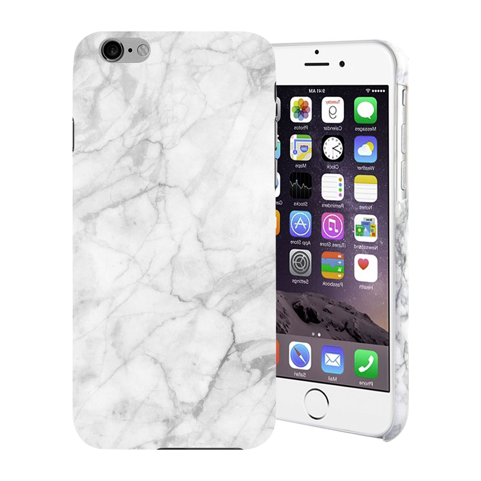 geeko coque de protection effet marbre iphone 6 blanc brandalley. Black Bedroom Furniture Sets. Home Design Ideas