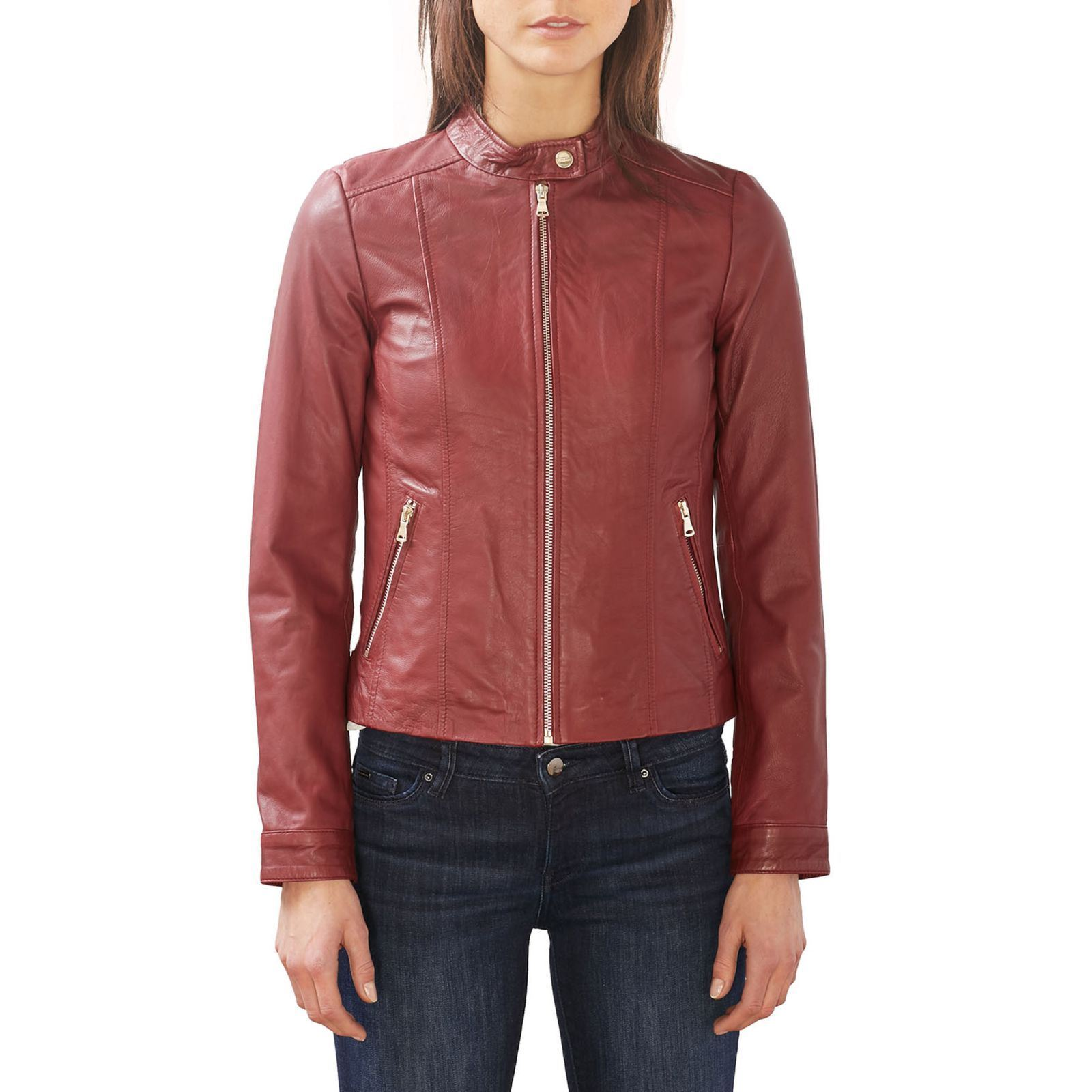 Esprit Collection Veste en cuir - rouge