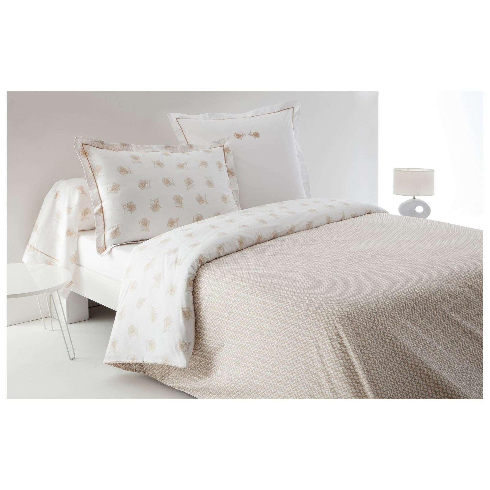 anne de sol ne plume housse de couette percale 80 fils cm blanc brandalley. Black Bedroom Furniture Sets. Home Design Ideas