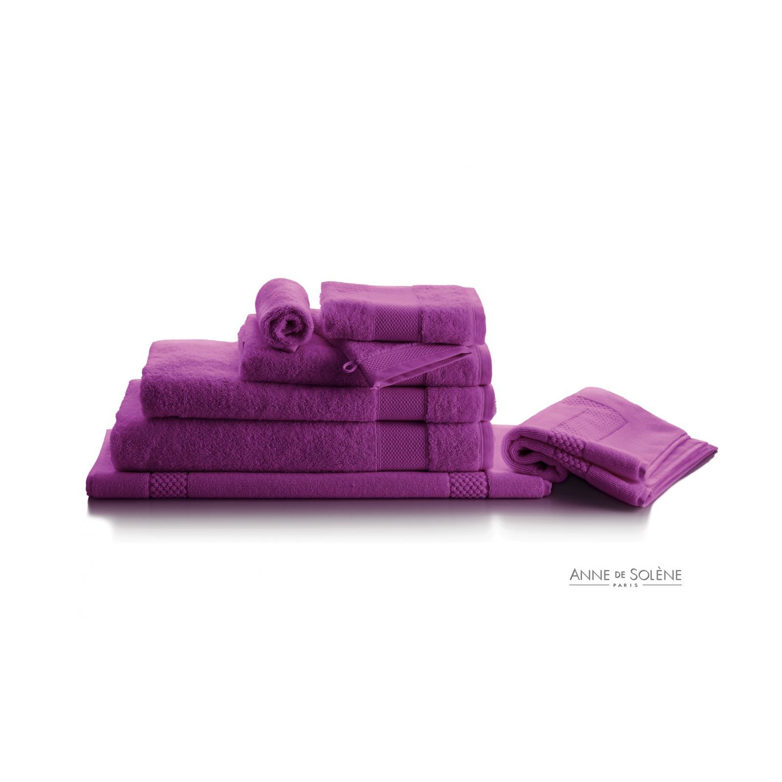 anne de sol ne p tale iris gant de toilette violet brandalley. Black Bedroom Furniture Sets. Home Design Ideas