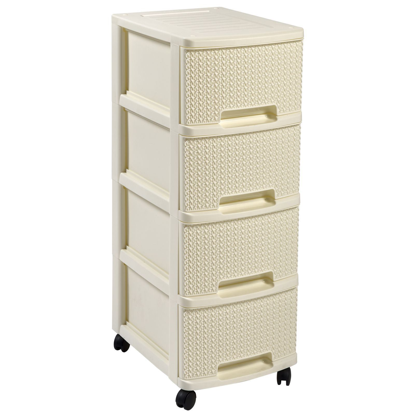 curver tricot tour de rangement 4 tiroirs blanc brandalley. Black Bedroom Furniture Sets. Home Design Ideas