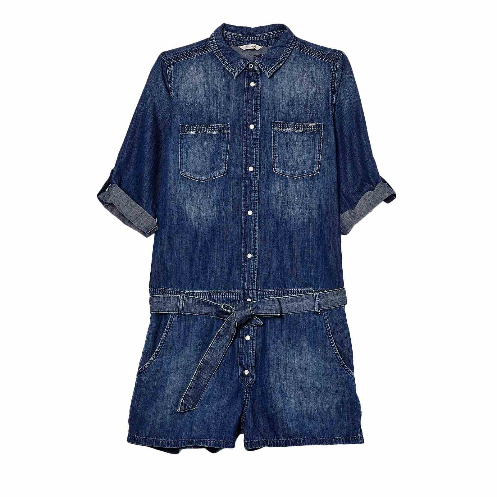 Pepe Jeans London journey - Combi-short - denim bleu