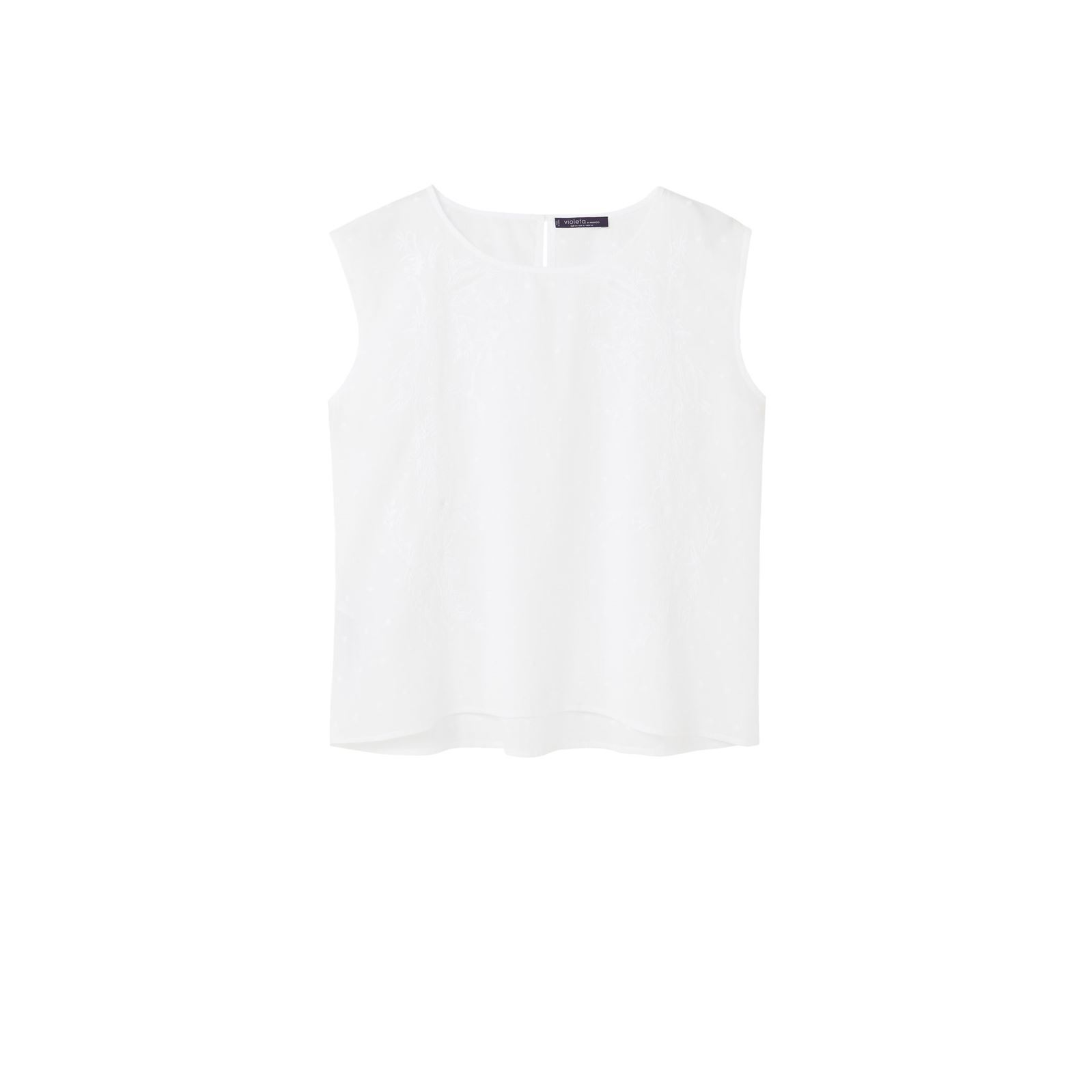 Violeta by Mango Top - blanc