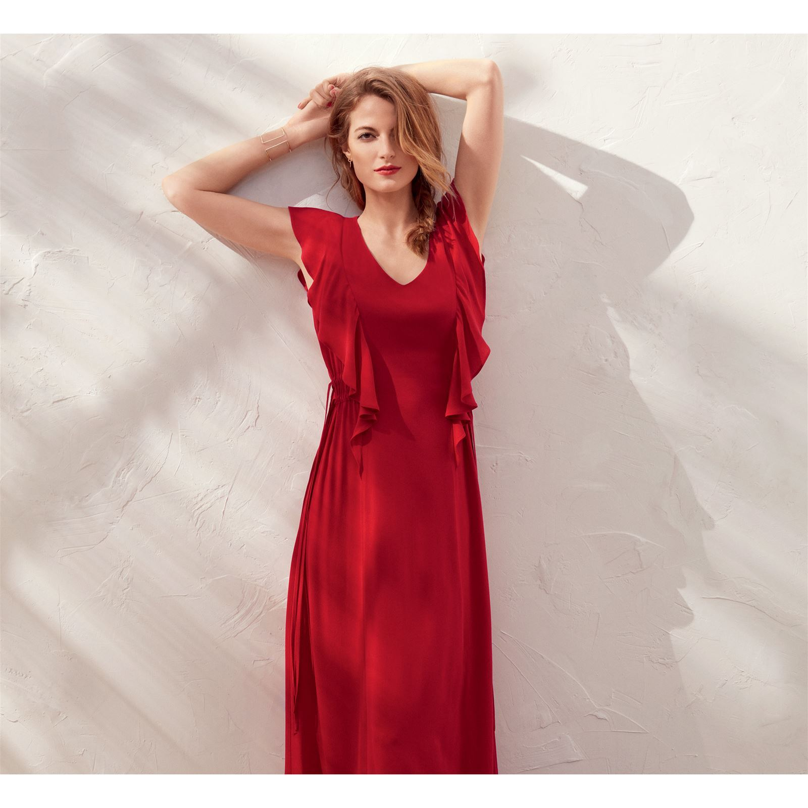 Caroll Kate - Robe longue - rouge   BrandAlley a0ee5834614