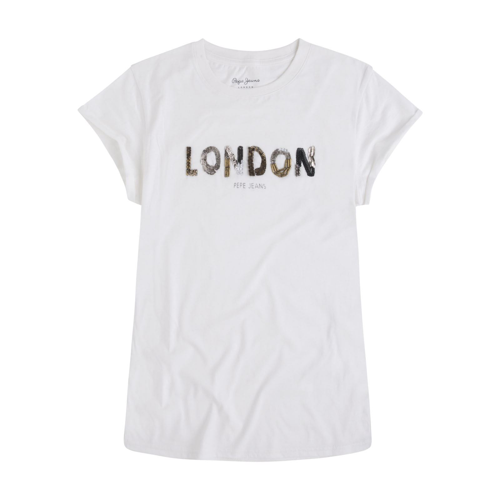 9aab070600c8 Pepe Jeans London Andréa - T-shirt manches courtes - blanc