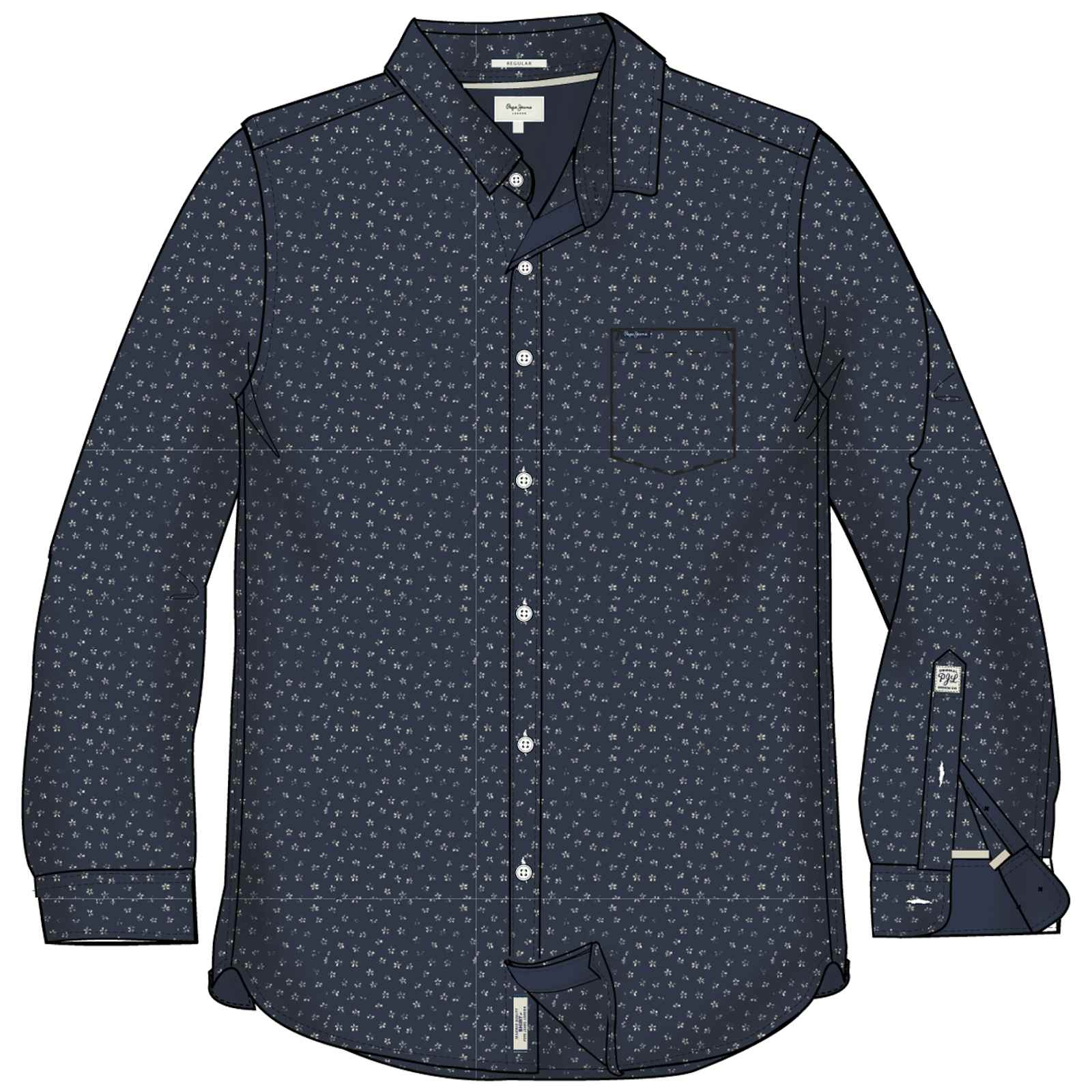 Pepe Jeans London Padstown - Chemise casual - bleu marine