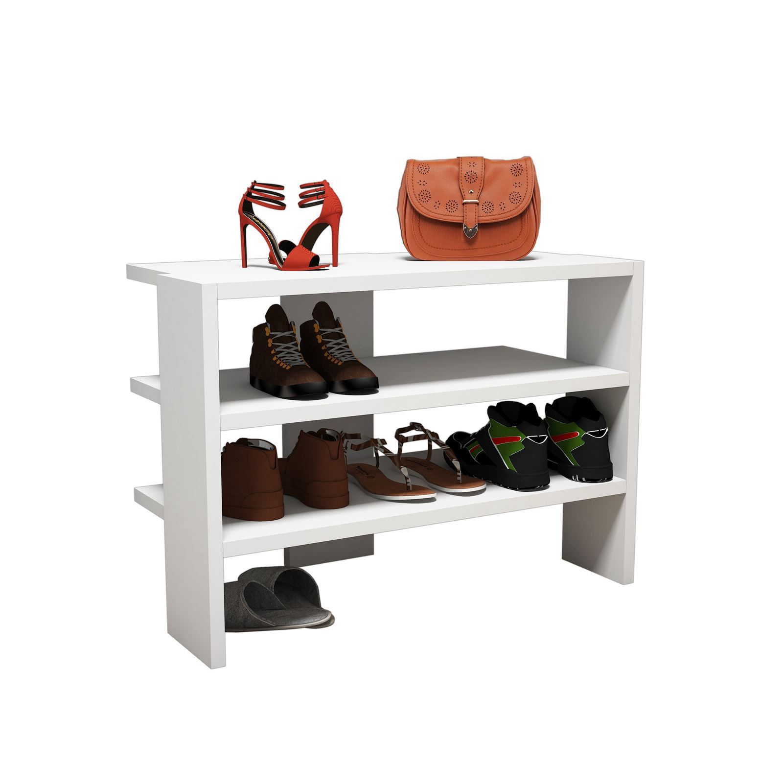 Design furniture mueble para zapatos blanco brandalley for Mueble de zapatos