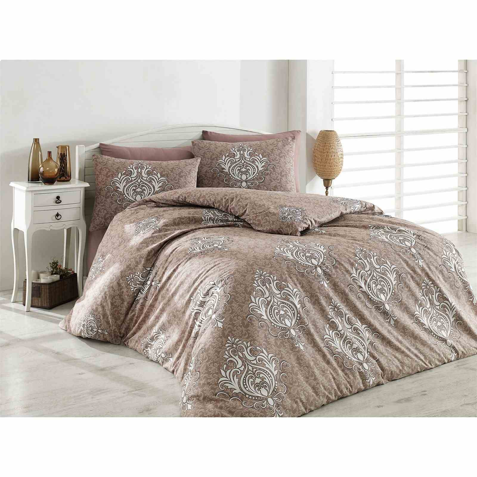 majoli parure de lit taupe brandalley. Black Bedroom Furniture Sets. Home Design Ideas