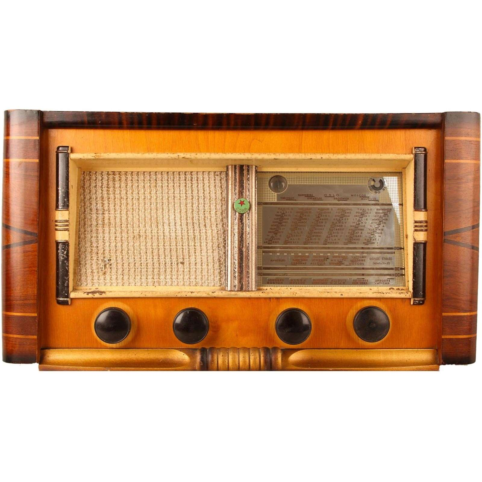 vintage radios cora radio bluetooth vintage de 1950 marron brandalley. Black Bedroom Furniture Sets. Home Design Ideas