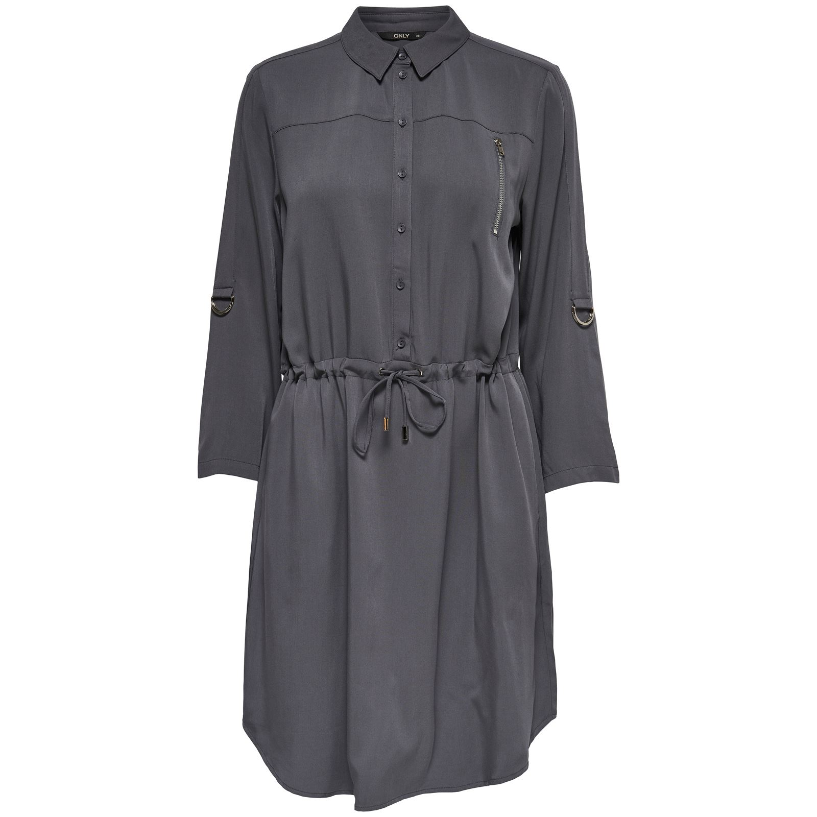 Only Robe chemise - gris
