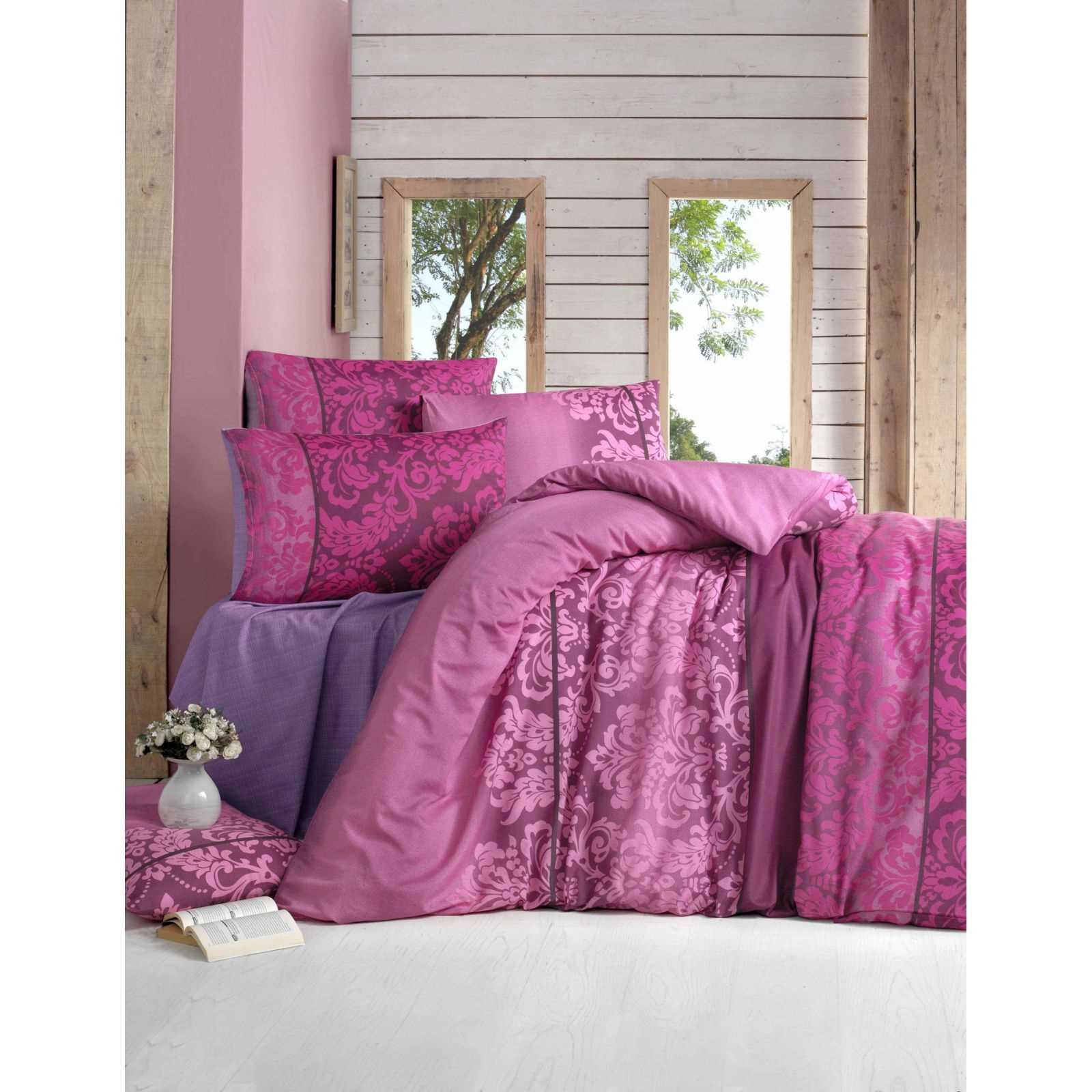 victoria parure de lit fuchsia brandalley. Black Bedroom Furniture Sets. Home Design Ideas