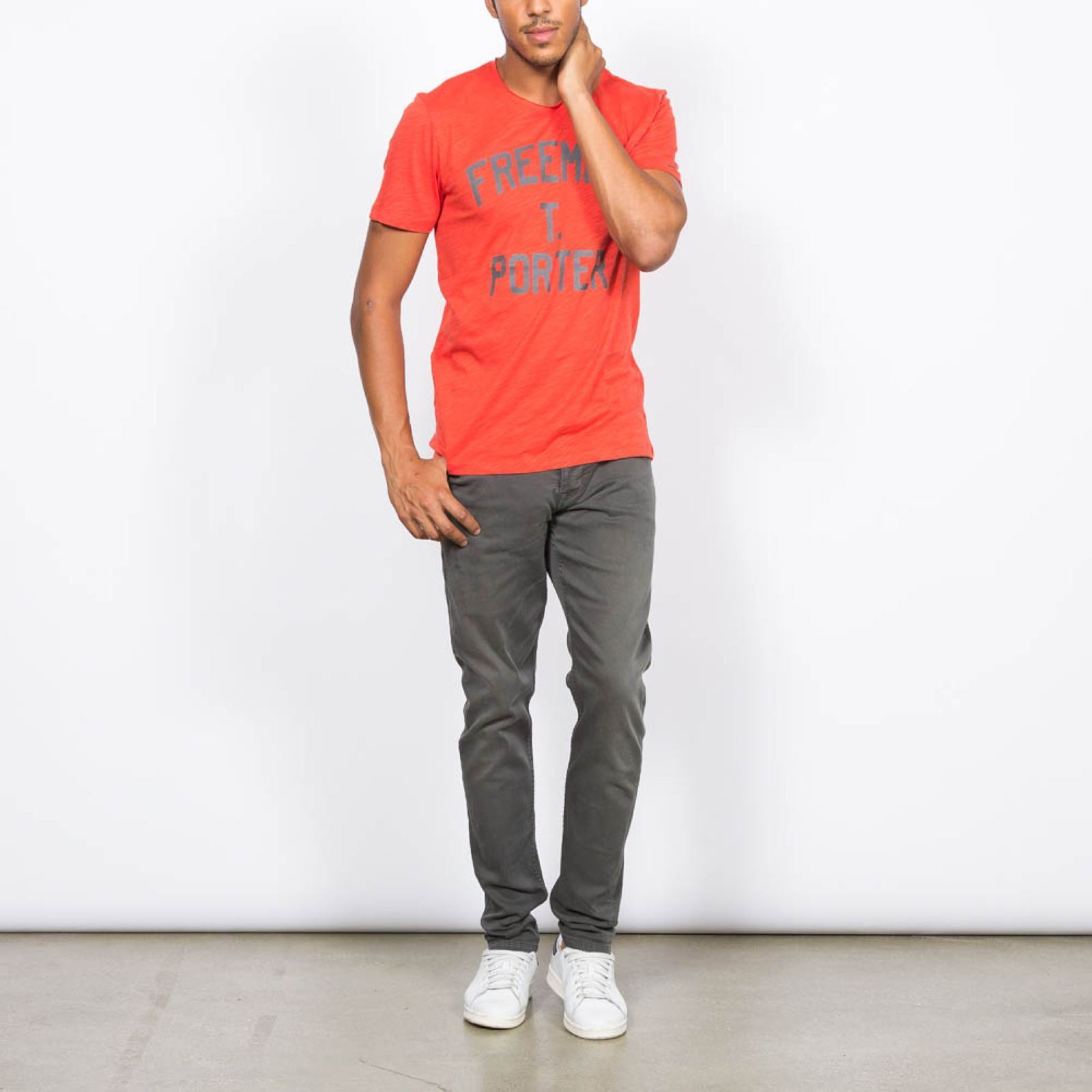 Freeman T Porter Tyle  T-shirt Manches Courtes  Rouge