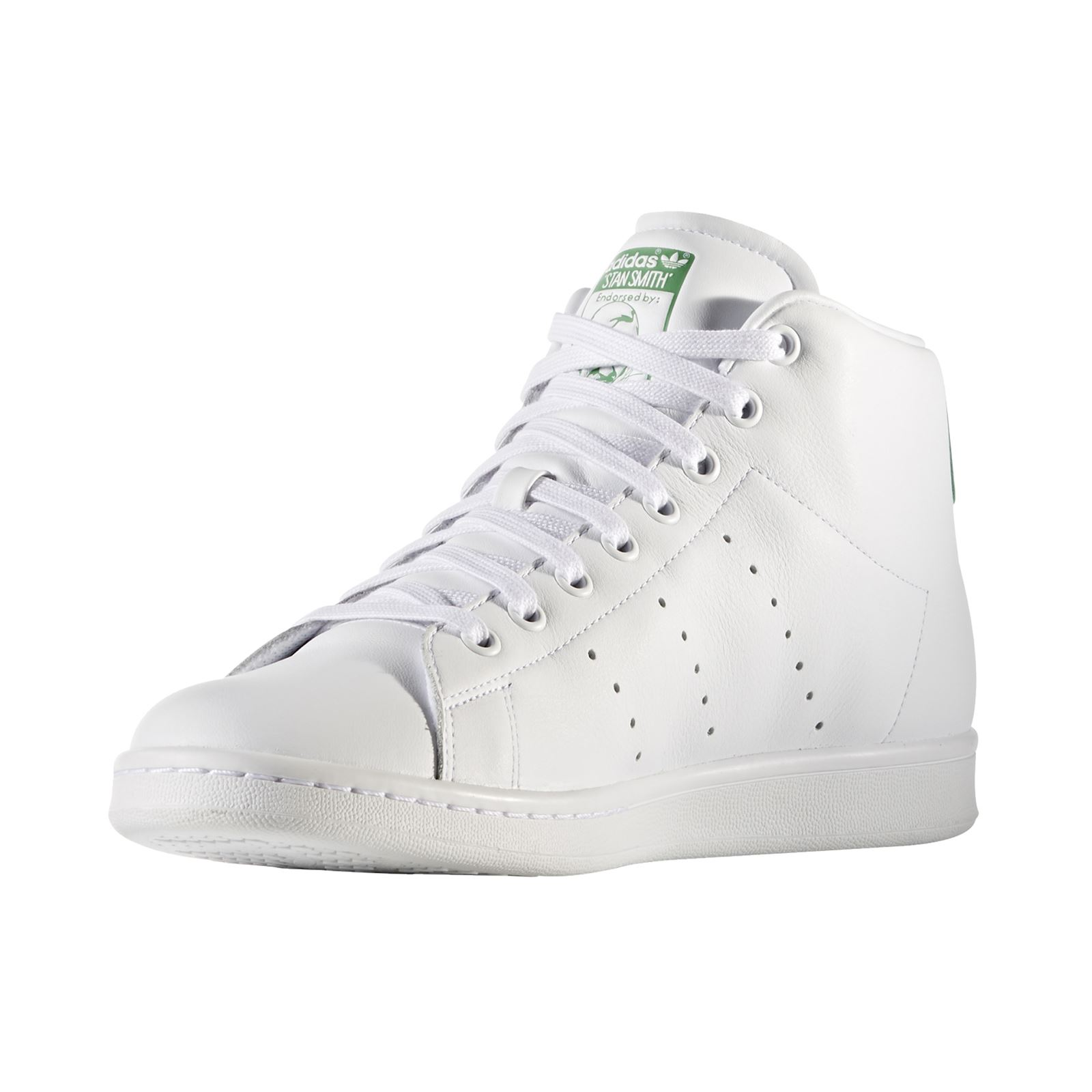 ADIDAS ORIGINALS Stan Smith - Baskets montantes en cuir - blanc