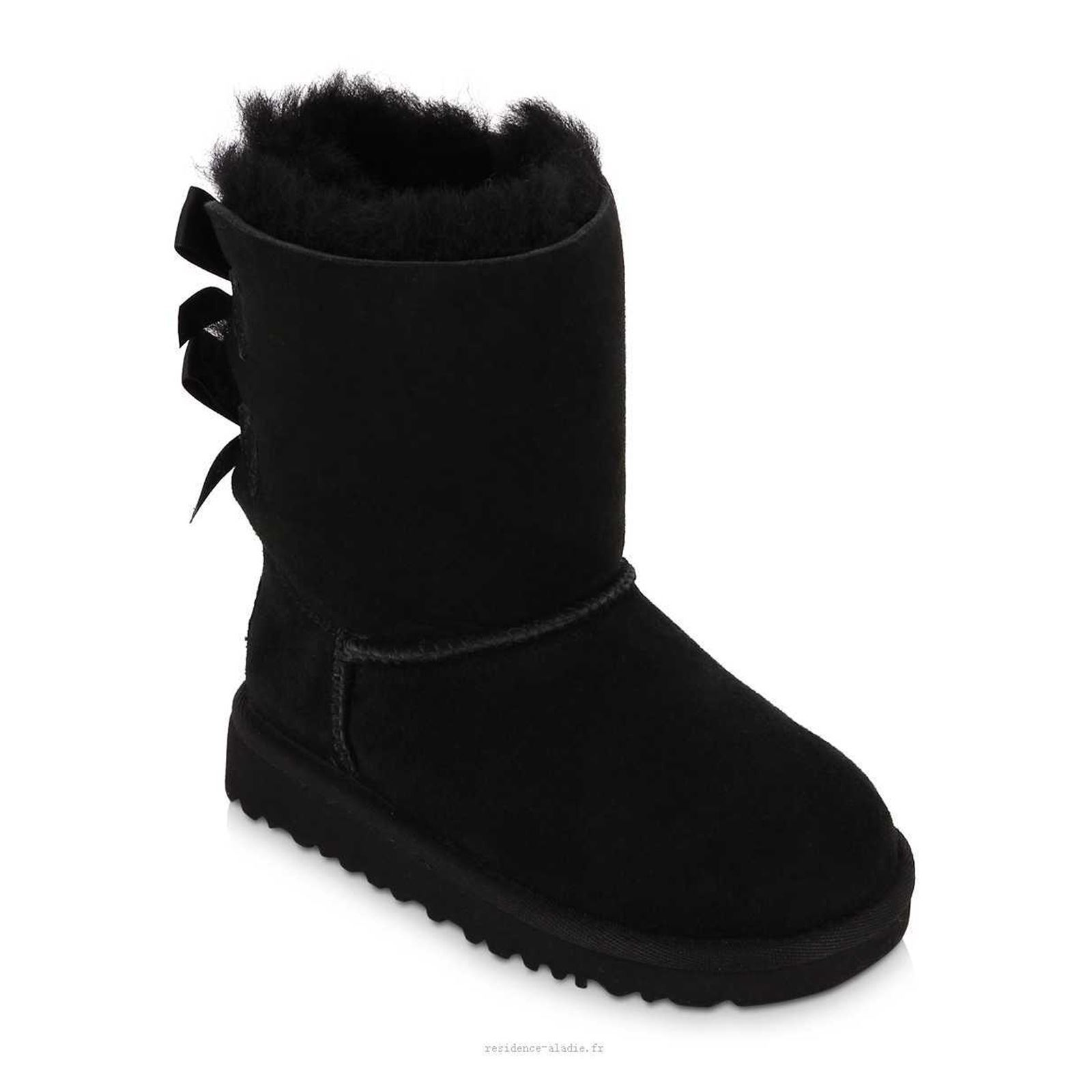 ugg t bailey bow petit enfant boots fourr es en cuir. Black Bedroom Furniture Sets. Home Design Ideas