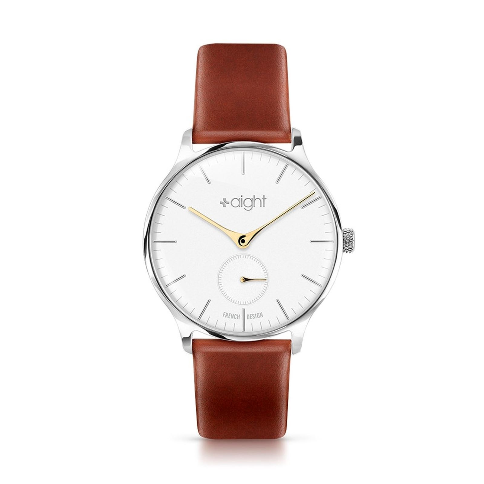 Aight Montre en cuir - marron