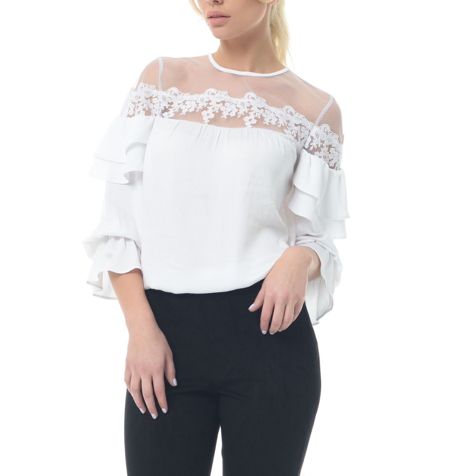 Genevié Body blouse - blanc