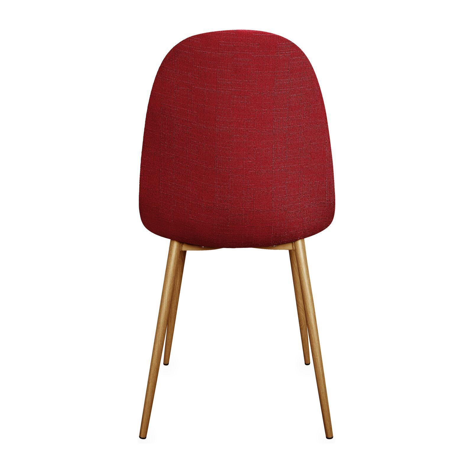 Potiron charlton chaise rouge brandalley for Chaise rouge