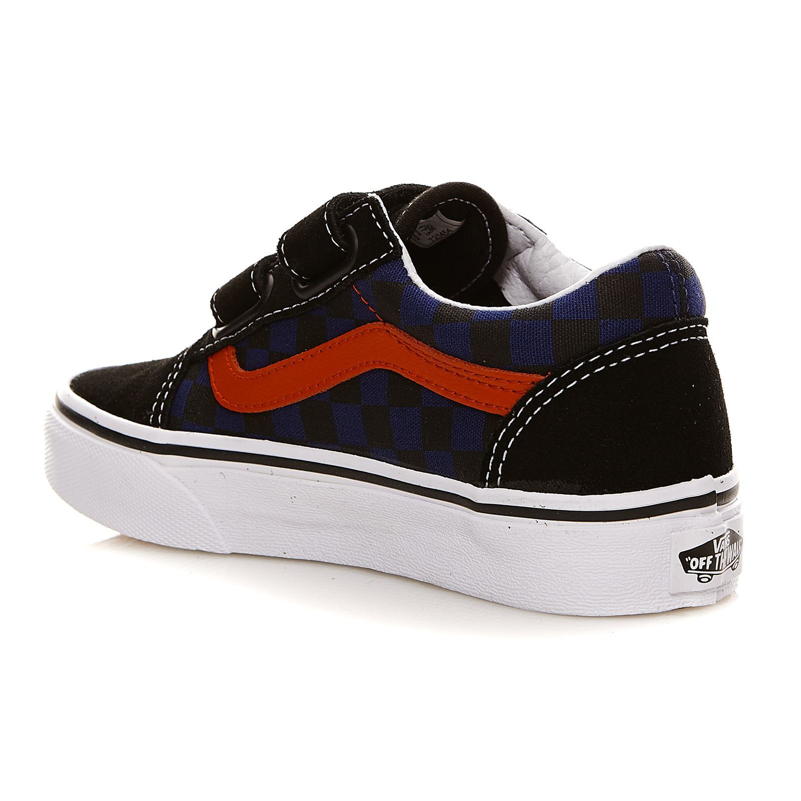 vans uy old skool v baskets en cuir noir brandalley. Black Bedroom Furniture Sets. Home Design Ideas
