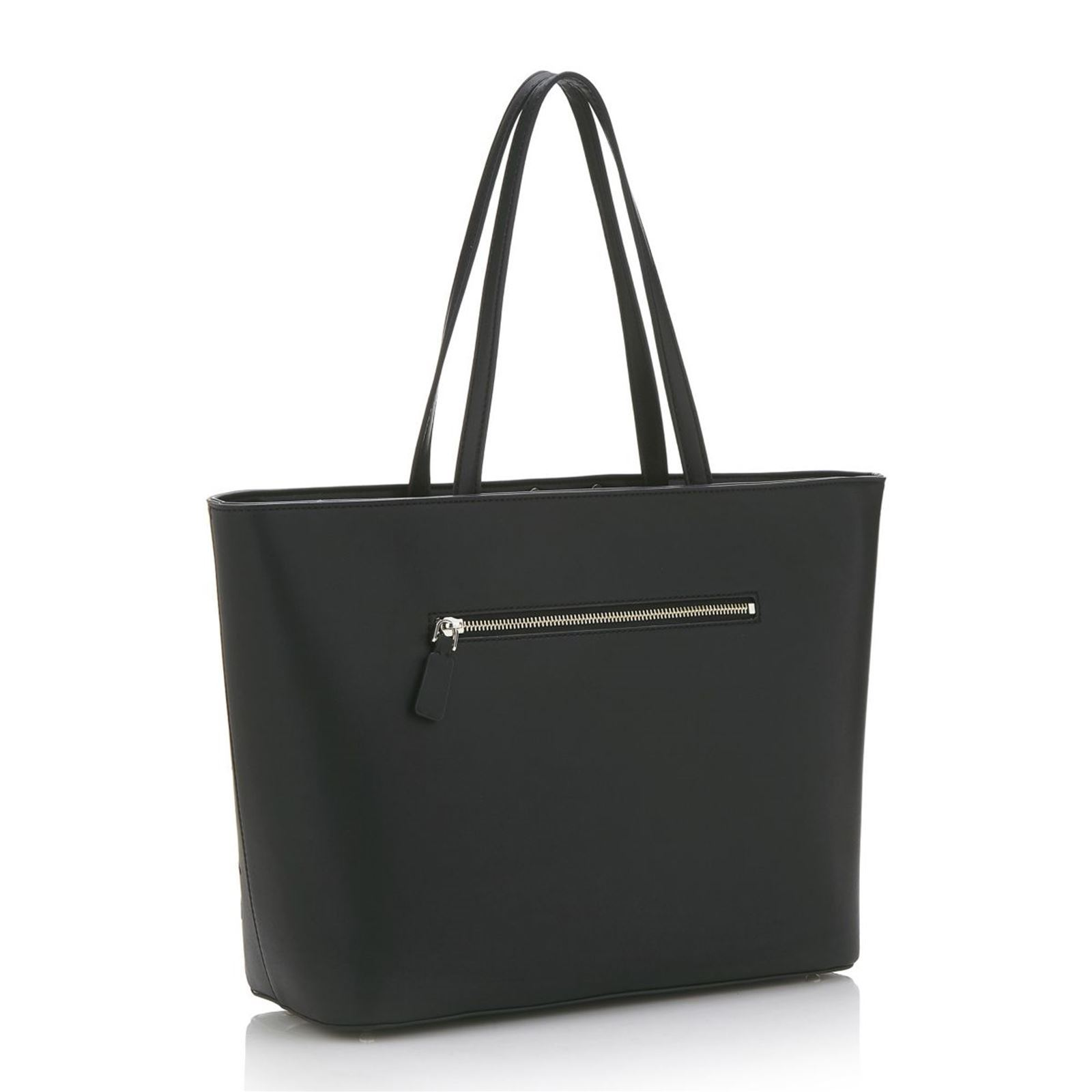 Guess Britta - Sac cabas avec broderies florales - noir   BrandAlley 586151aba071