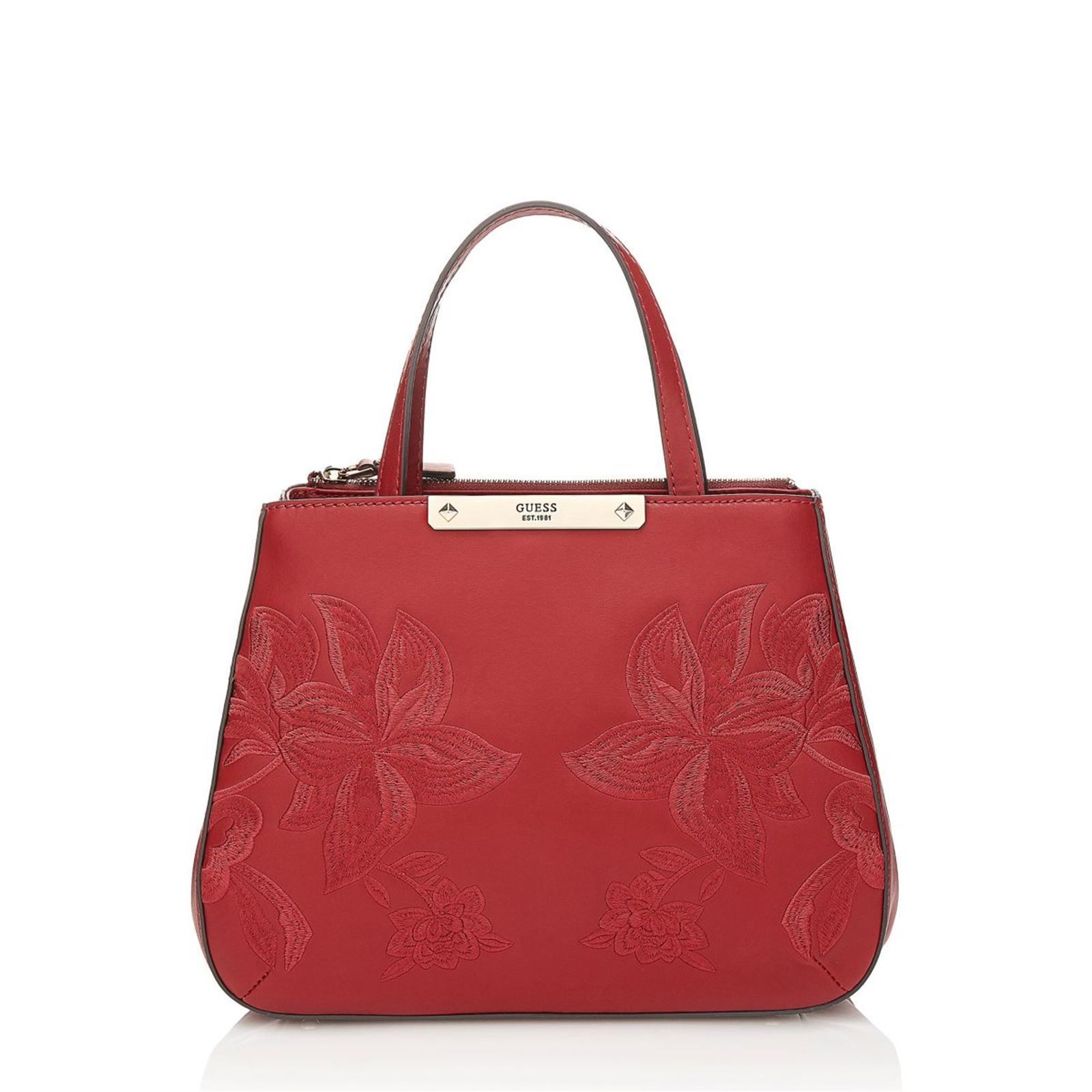 Guess Britta - Sac cabas avec broderies florales - rouge   BrandAlley edc75131a372
