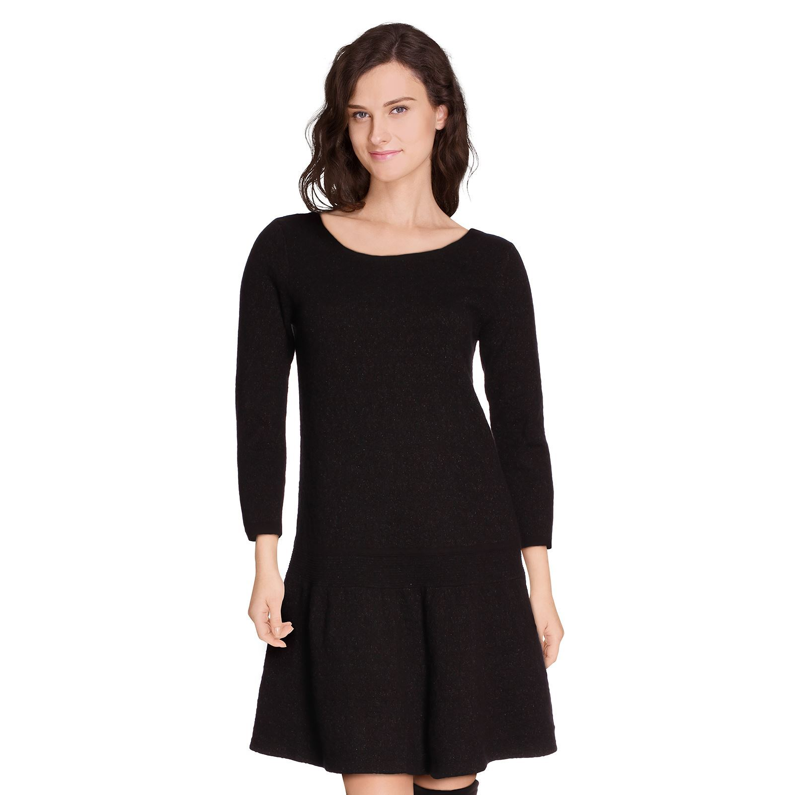 Comptoir des cotonniers siroter robe pull noir - Robe patineuse comptoir des cotonniers ...