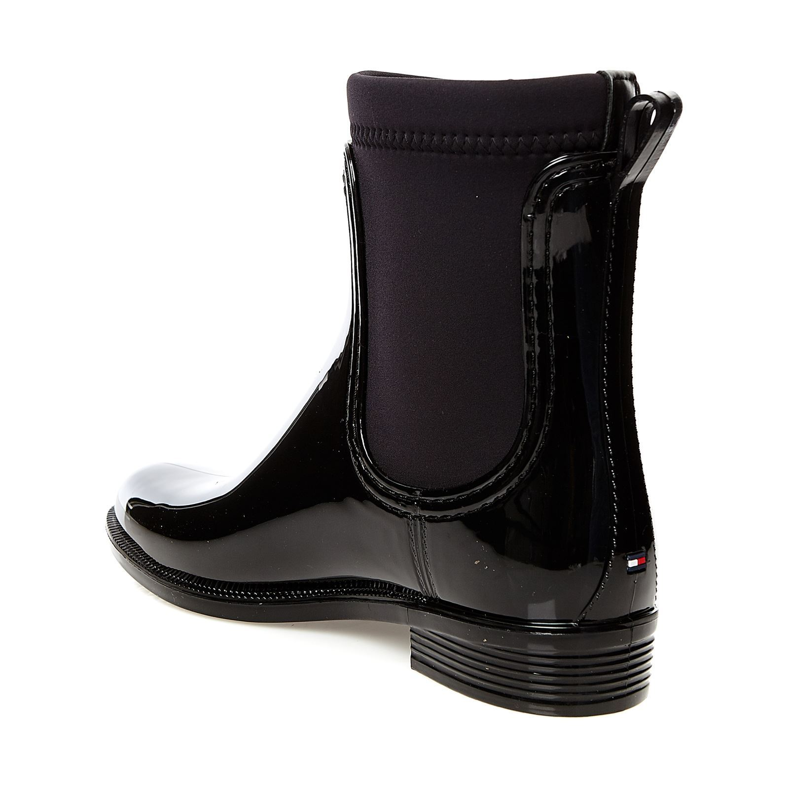 tommy hilfiger odette bottes de pluie noir brandalley. Black Bedroom Furniture Sets. Home Design Ideas