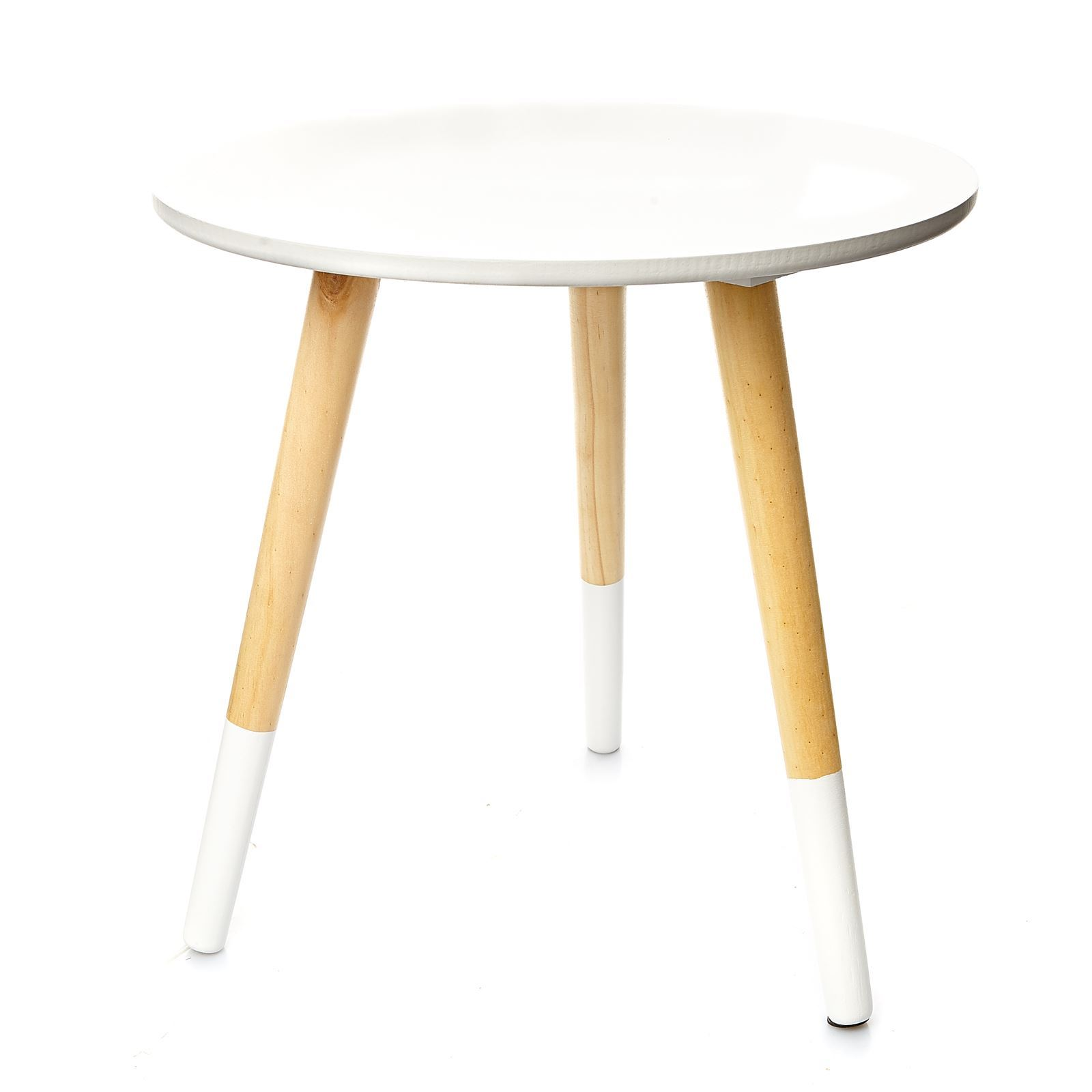 Home and styling table d 39 appoint ronde blanc brandalley - Table d appoint ronde ...
