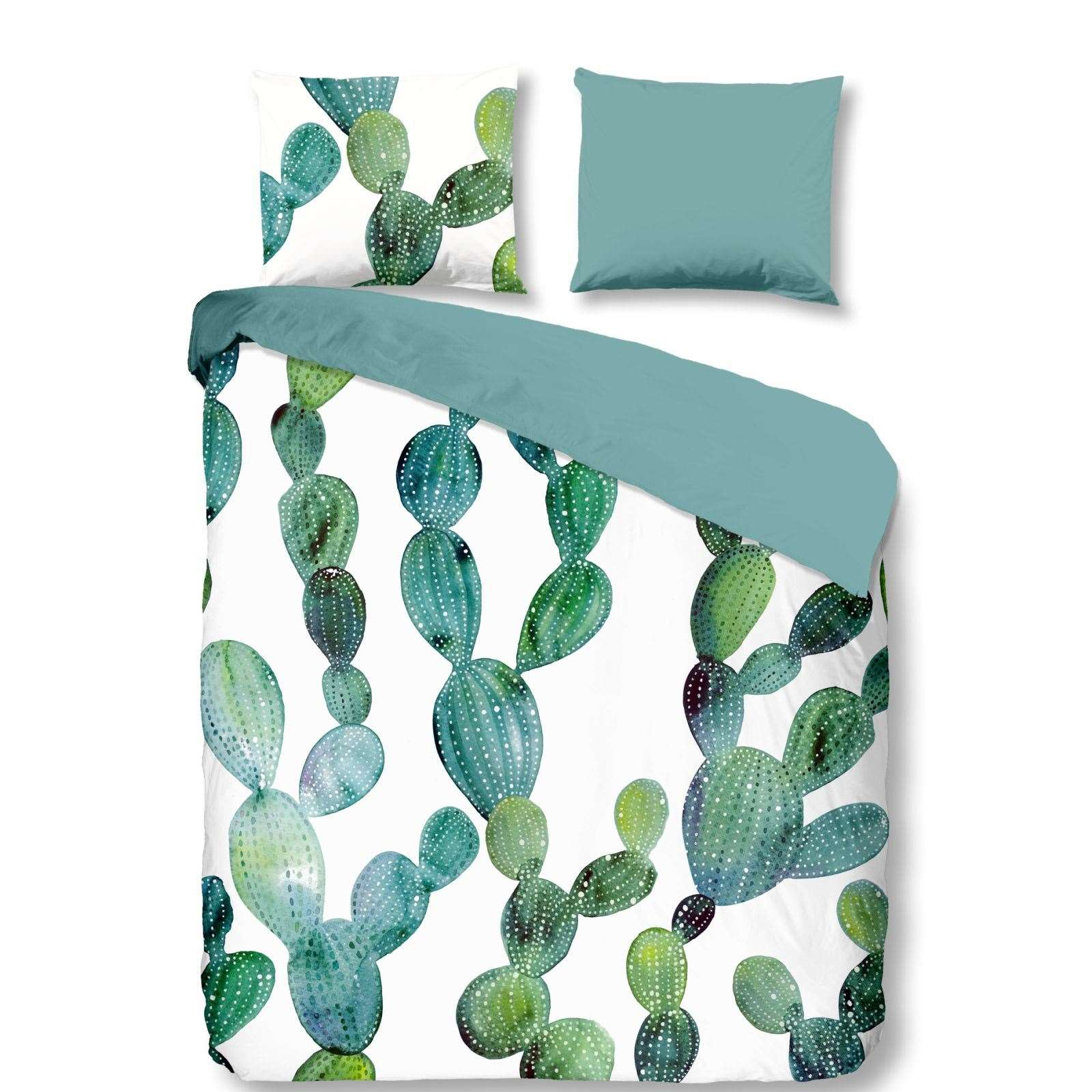 goodmorning cactus parure de lit vert brandalley. Black Bedroom Furniture Sets. Home Design Ideas