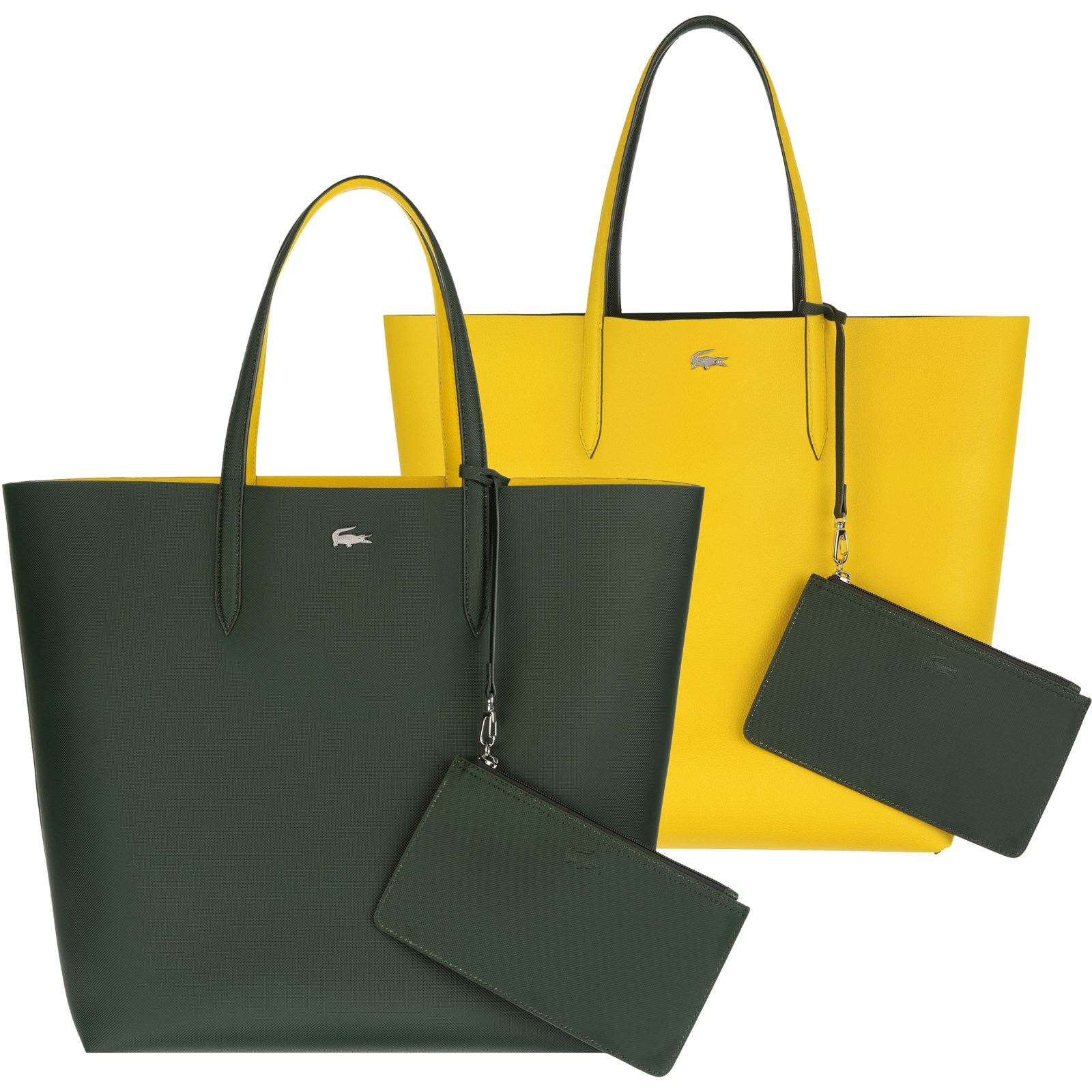 lacoste anna sac cabas r versible avec pochette bicolore brandalley. Black Bedroom Furniture Sets. Home Design Ideas