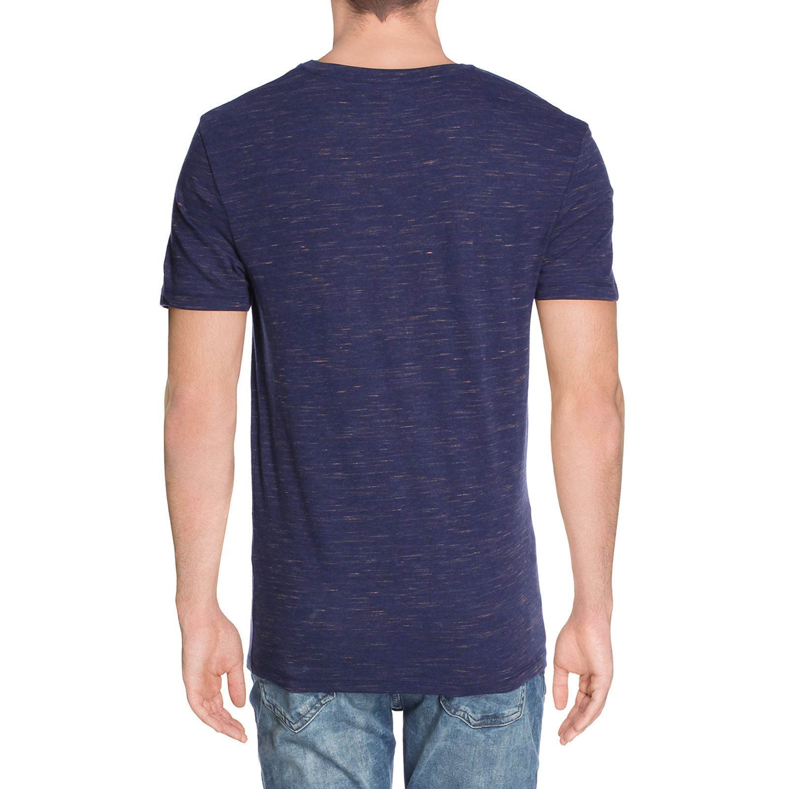 celio tee shirt basic col v avec poche bleu brandalley. Black Bedroom Furniture Sets. Home Design Ideas