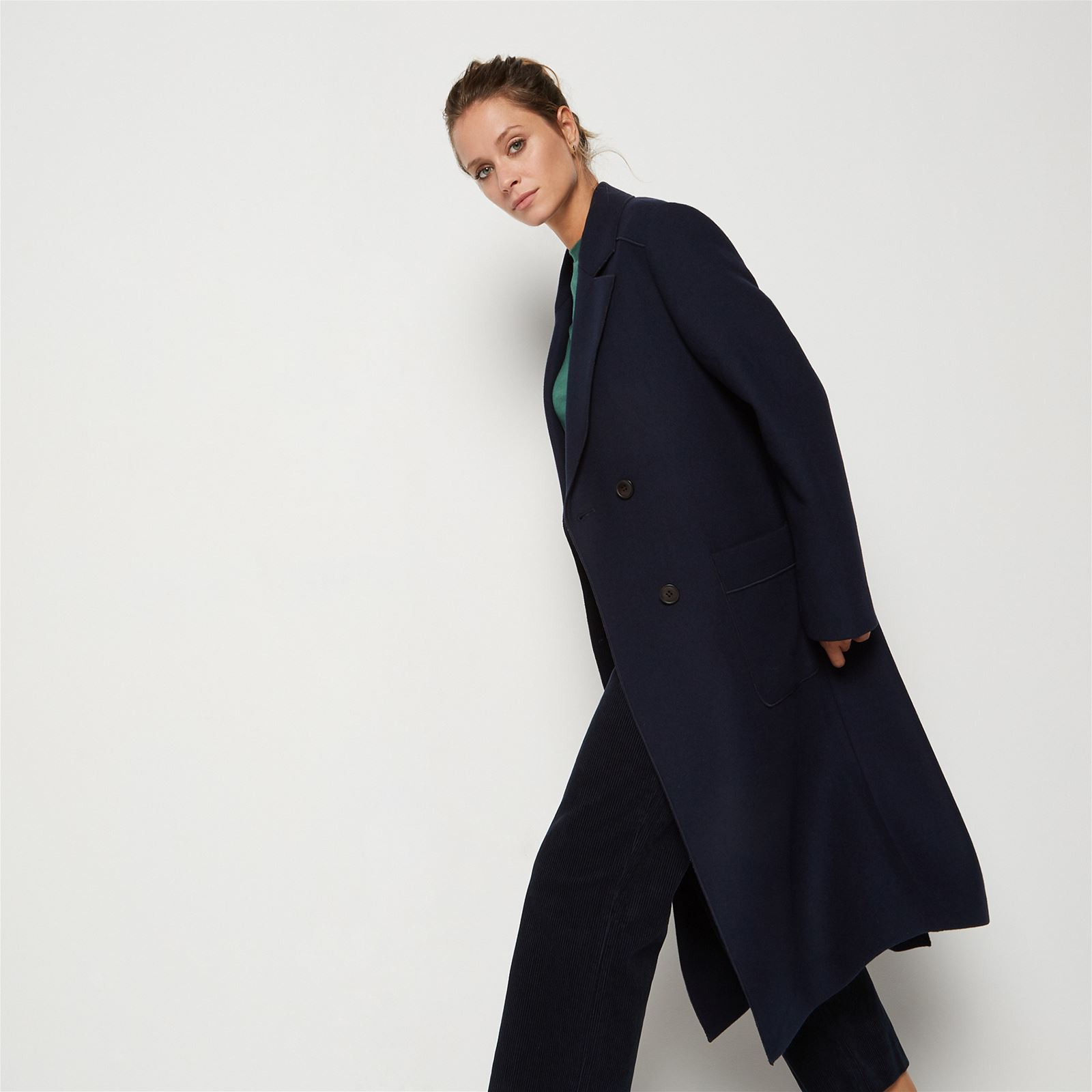 Manteau bleu marine long