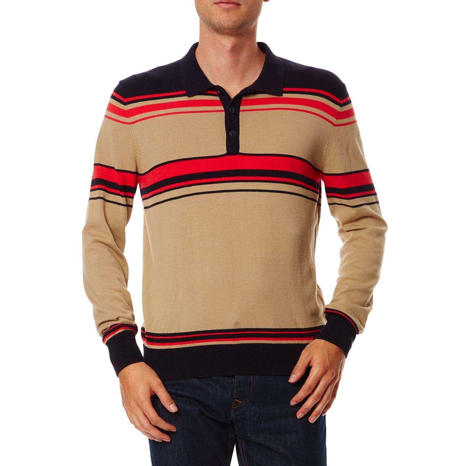 Polo Manches Longues  Beige